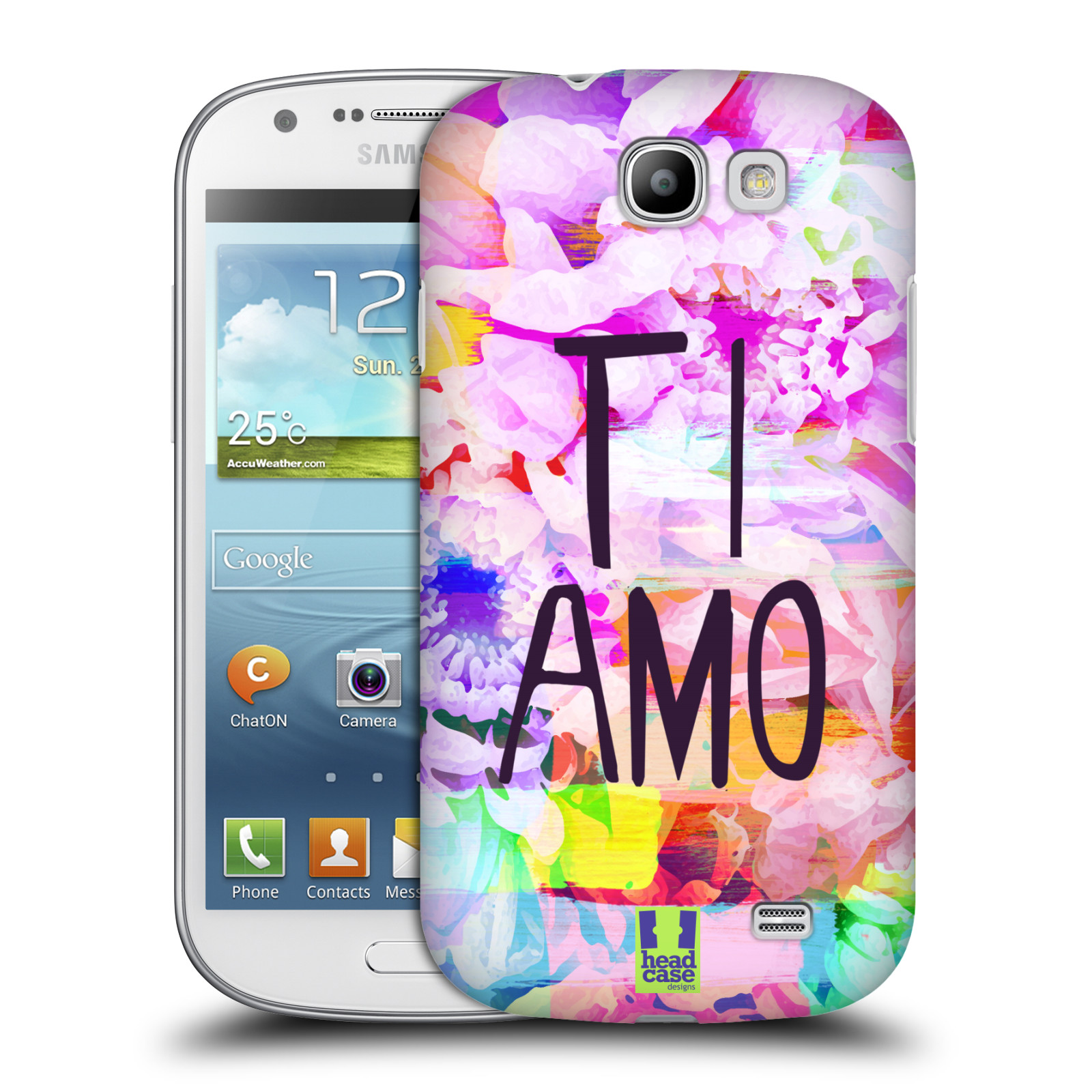 Plastové pouzdro na mobil Samsung Galaxy Express HEAD CASE Květy Ti Amo (Plastový kryt či obal na mobilní telefon Samsung Galaxy Express GT-i8730)