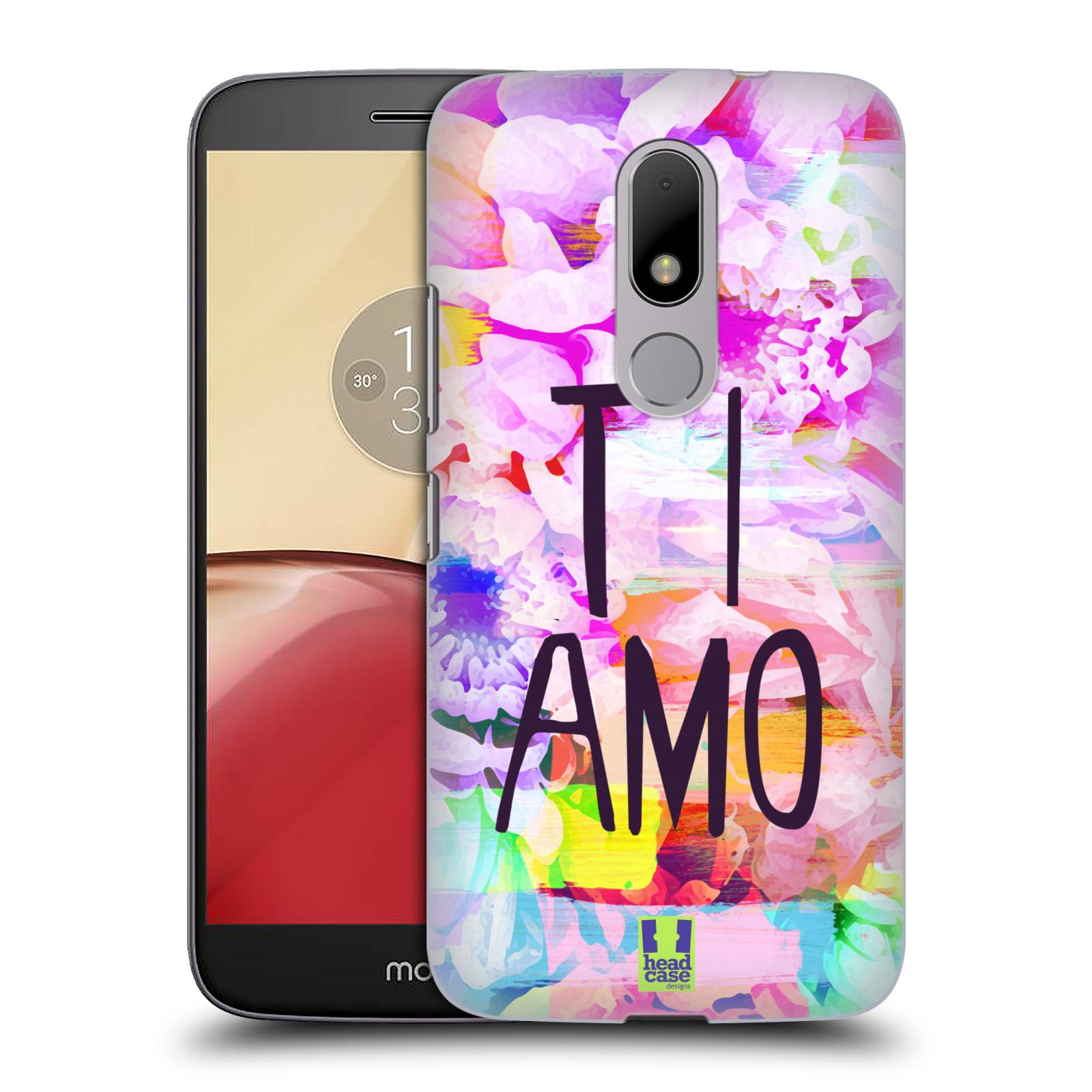 Plastové pouzdro na mobil Lenovo Moto M HEAD CASE Květy Ti Amo empty 9e226358c71