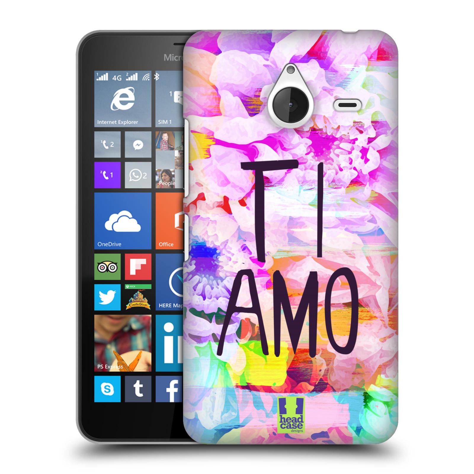 Plastové pouzdro na mobil Microsoft Lumia 640 XL HEAD CASE Květy Ti Amo (Plastový kryt či obal na mobilní telefon Microsoft Lumia 640 XL)