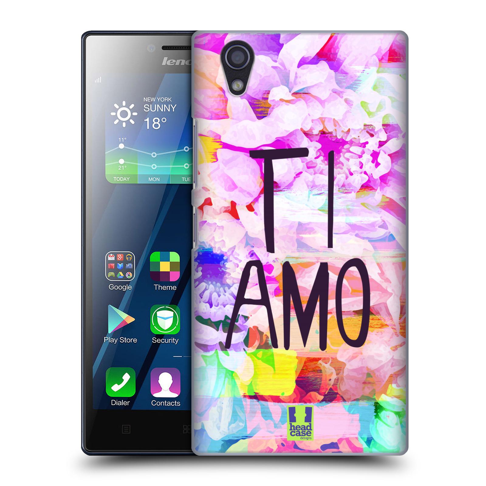 Plastové pouzdro na mobil Lenovo P70 HEAD CASE Květy Ti Amo (Plastový kryt či obal na mobilní telefon Lenovo P70)