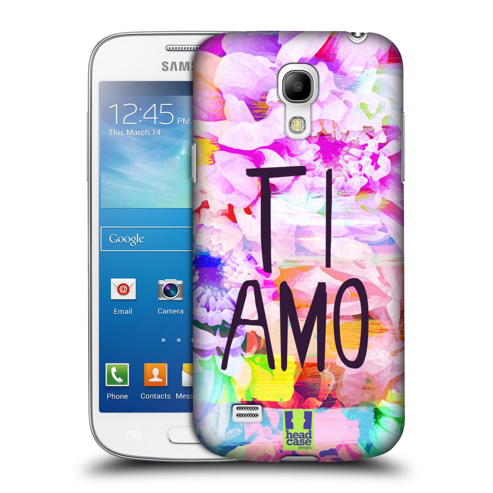 Plastové pouzdro na mobil Samsung Galaxy S4 Mini HEAD CASE Květy Ti Amo (Plastový kryt či obal na mobilní telefon Samsung Galaxy S4 Mini GT-i9195 / i9190)