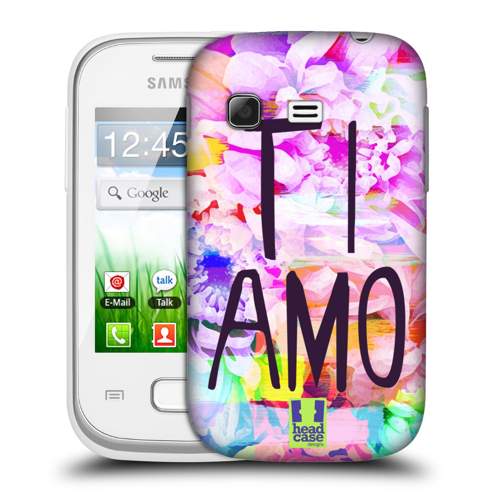 Plastové pouzdro na mobil Samsung Galaxy Pocket HEAD CASE Květy Ti Amo (Plastový kryt či obal na mobilní telefon Samsung Galaxy Pocket GT-S5300)