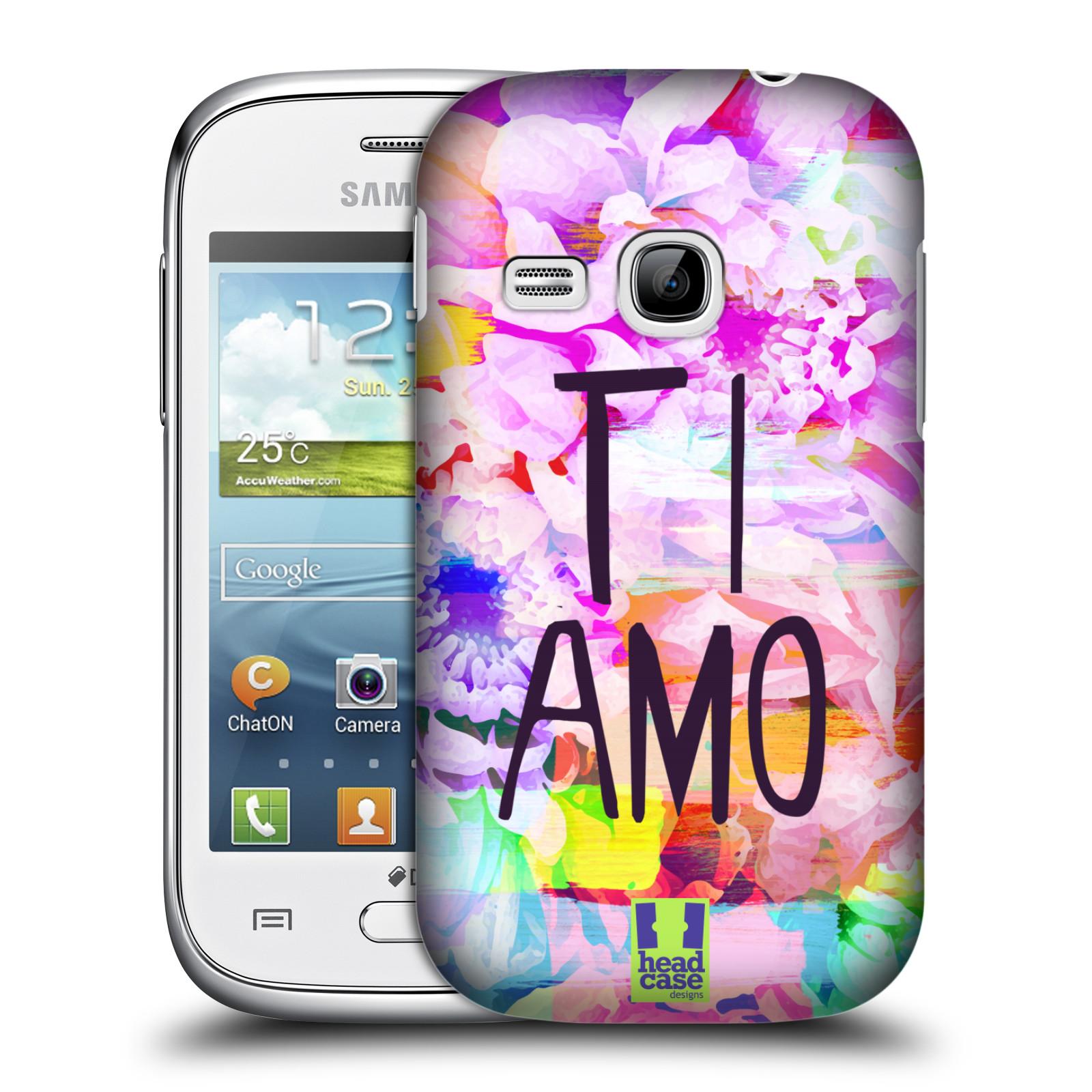 Plastové pouzdro na mobil Samsung Galaxy Young HEAD CASE Květy Ti Amo (Plastový kryt či obal na mobilní telefon Samsung Galaxy Young GT-S6310)