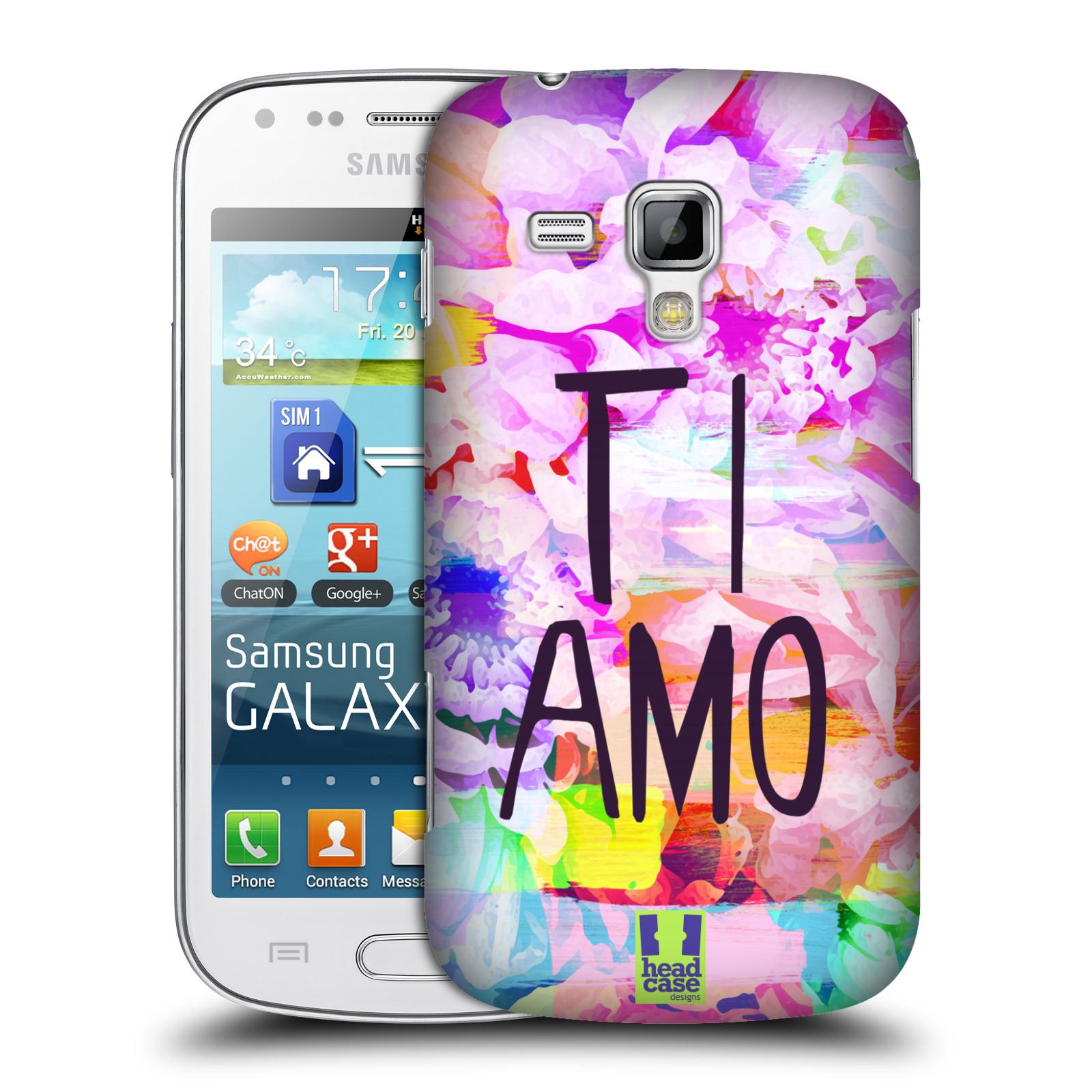 Plastové pouzdro na mobil Samsung Galaxy Trend Plus HEAD CASE Květy Ti Amo (Plastový kryt či obal na mobilní telefon Samsung Galaxy Trend Plus GT-S7580)