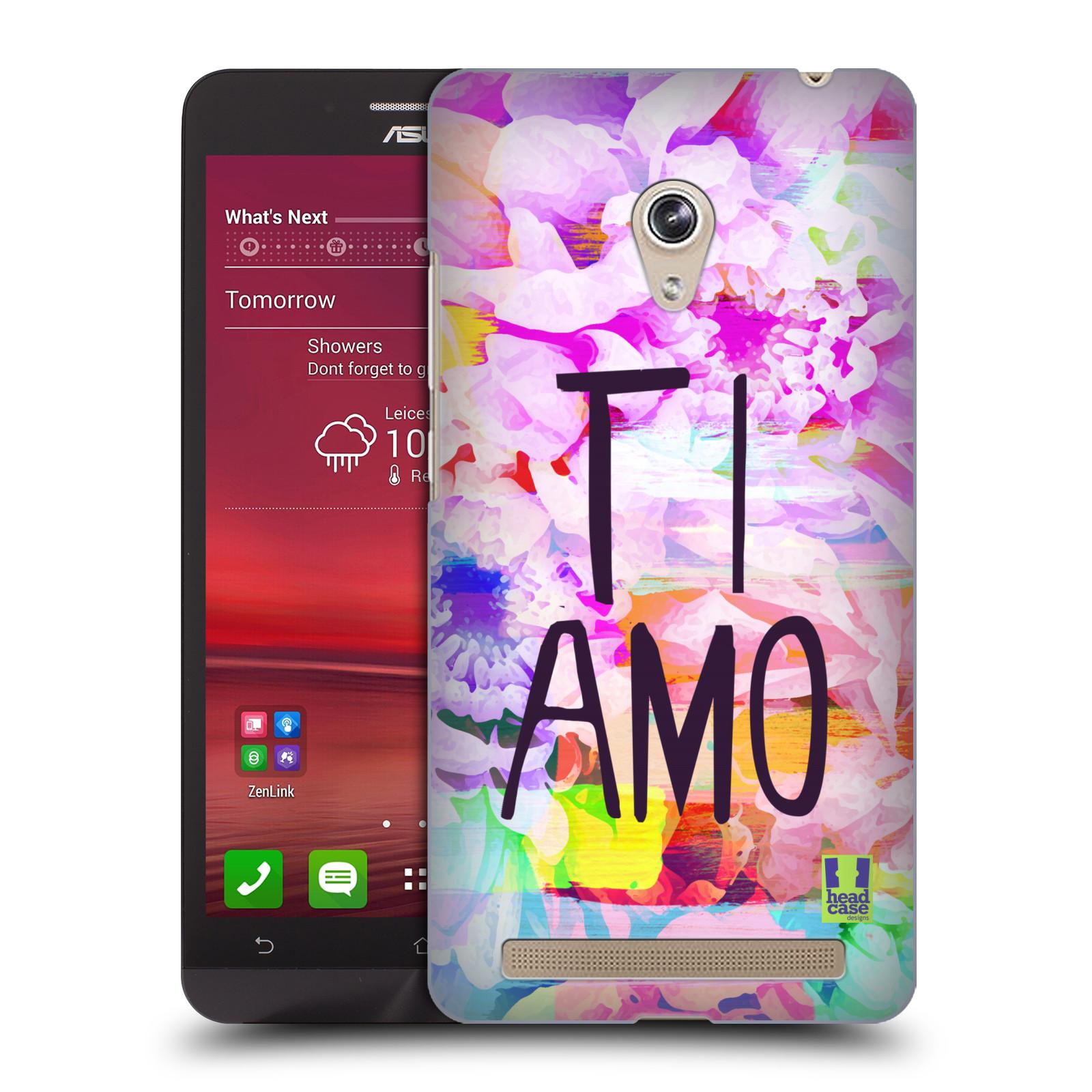 Plastové pouzdro na mobil Asus Zenfone 6 HEAD CASE Květy Ti Amo (Plastový kryt či obal na mobilní telefon Asus Zenfone 6 A600CG / A601CG)