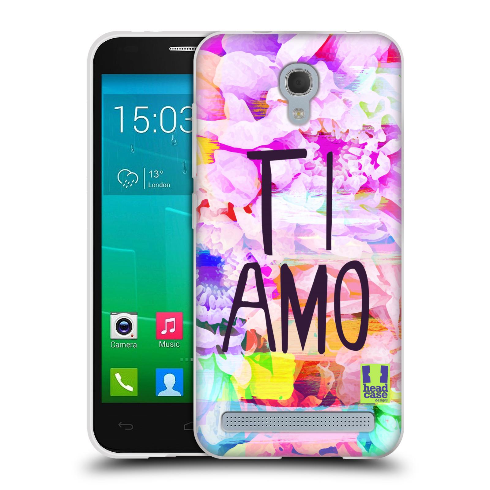 Silikonové pouzdro na mobil Alcatel One Touch Idol 2 Mini S 6036Y HEAD CASE Květy Ti Amo (Silikonový kryt či obal na mobilní telefon Alcatel Idol 2 Mini S OT-6036Y)