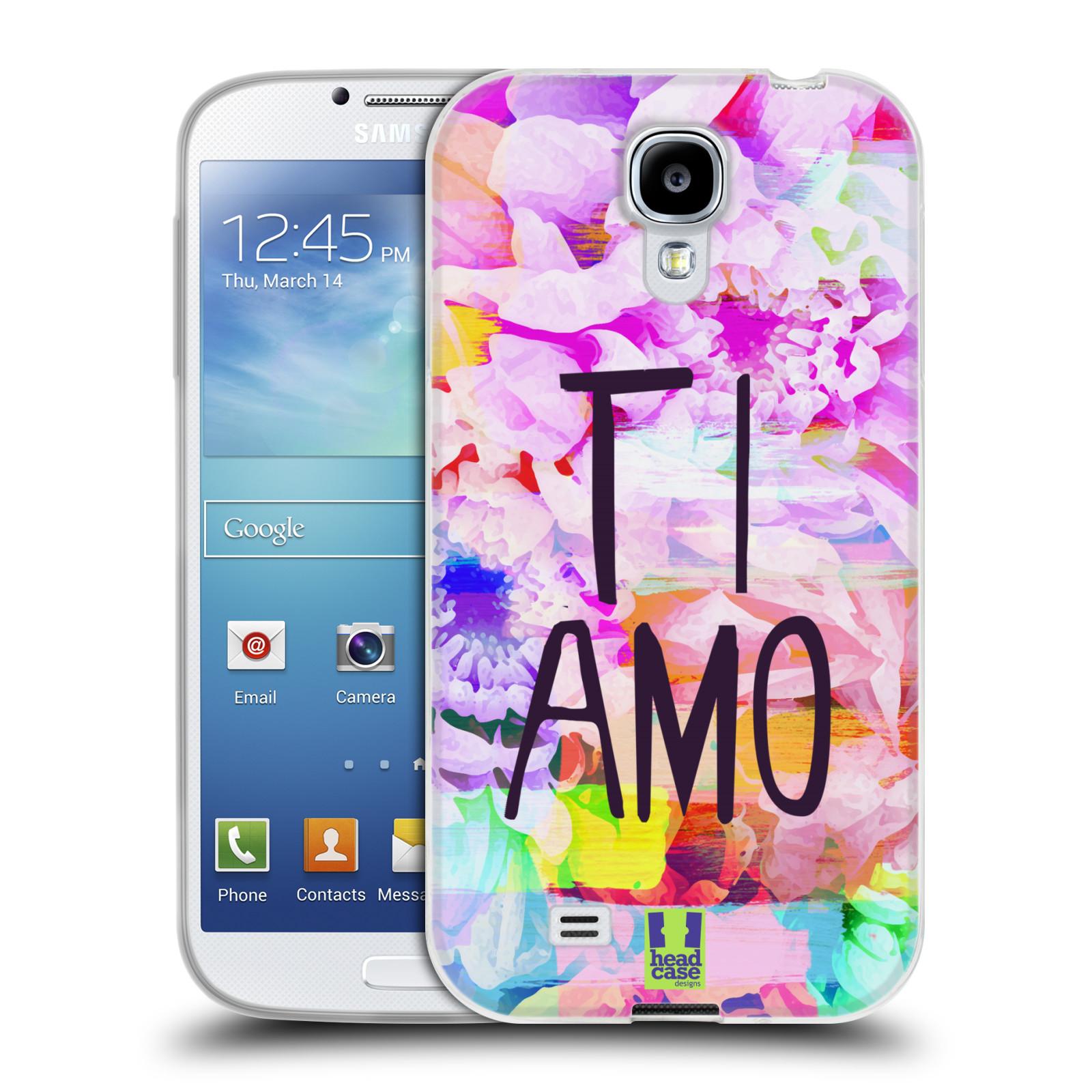 Silikonové pouzdro na mobil Samsung Galaxy S4 HEAD CASE Květy Ti Amo (Silikonový kryt či obal na mobilní telefon Samsung Galaxy S4 GT-i9505 / i9500)
