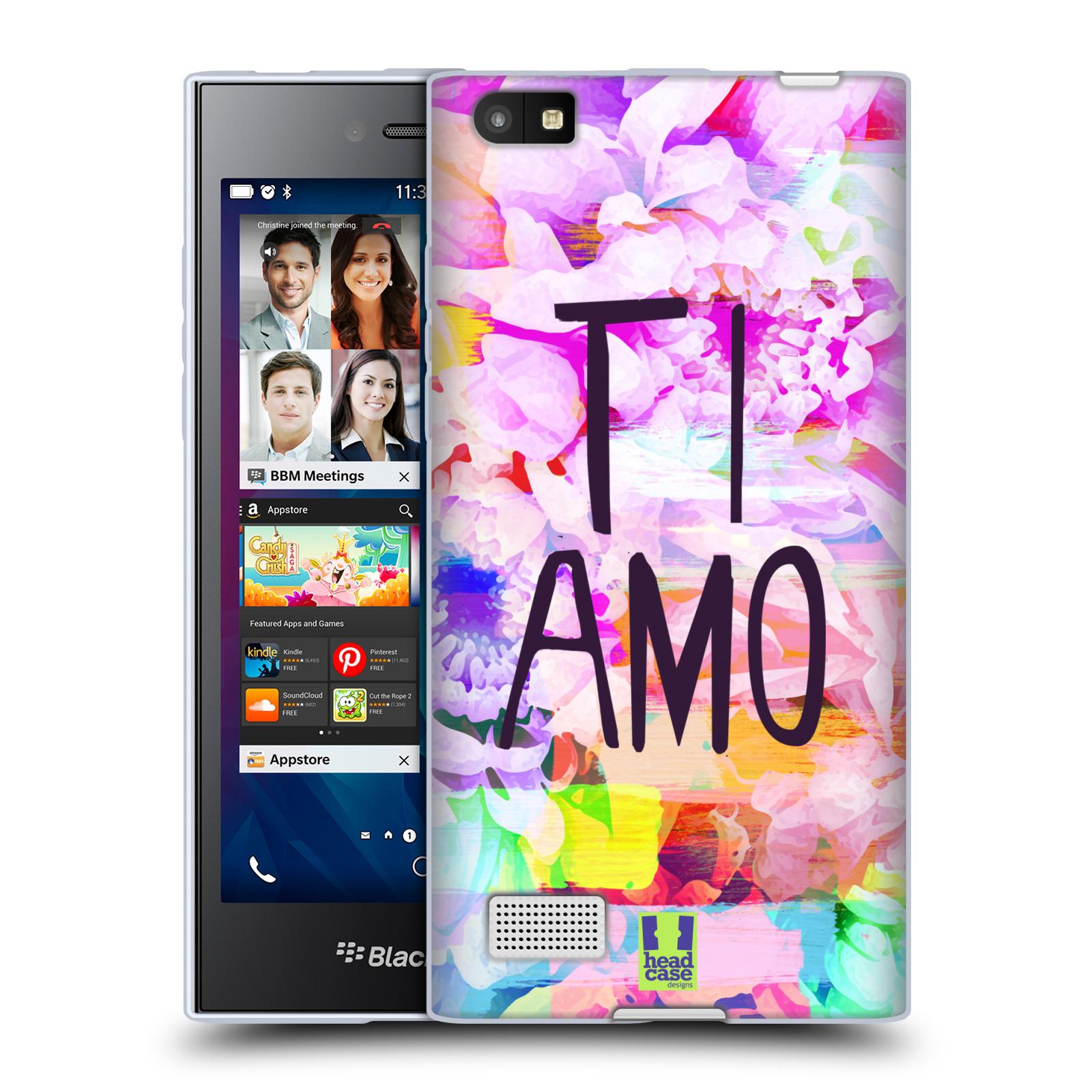 Silikonové pouzdro na mobil Blackberry Leap HEAD CASE Květy Ti Amo (Silikonový kryt či obal na mobilní telefon Blackberry Leap)