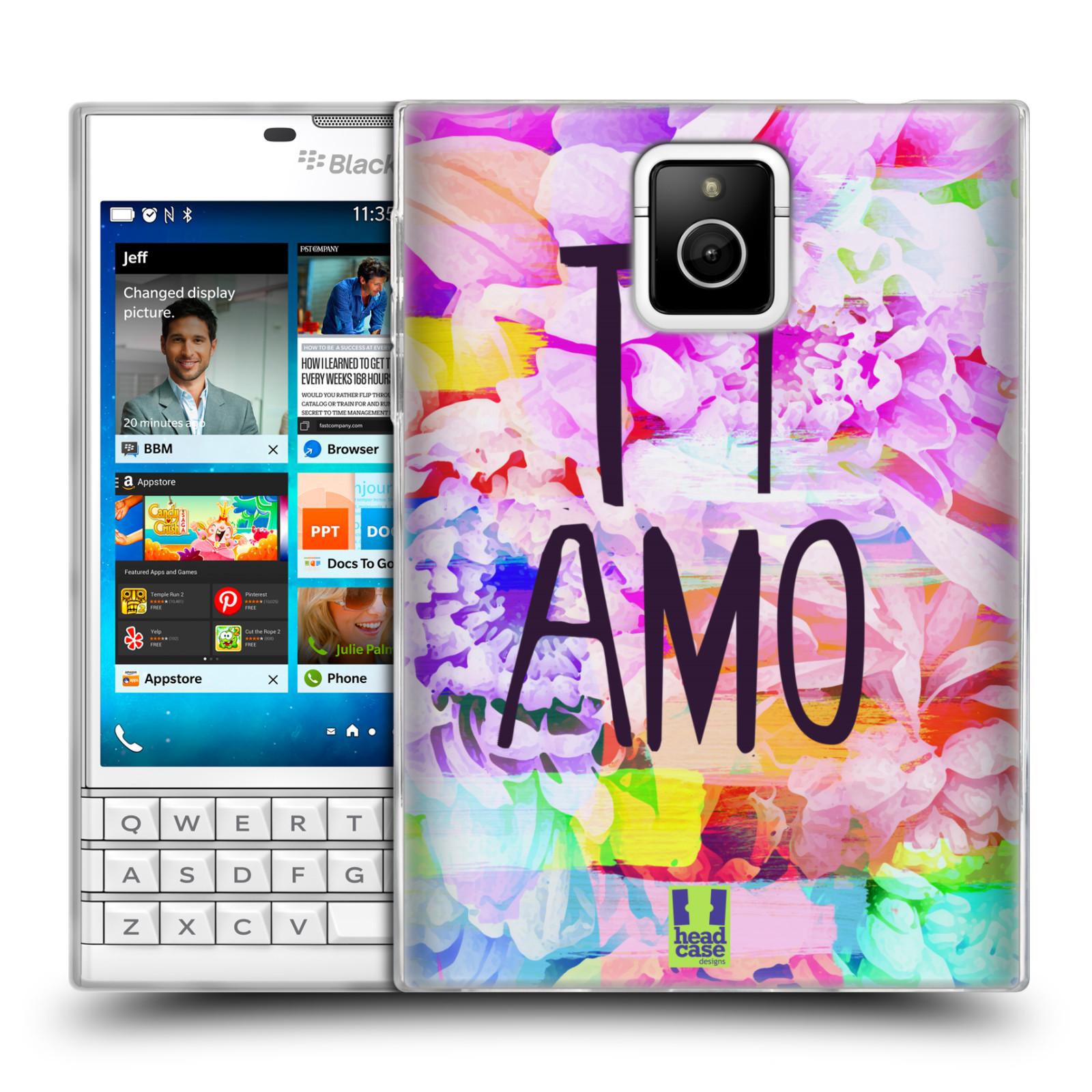 Silikonové pouzdro na mobil Blackberry PASSPORT HEAD CASE Květy Ti Amo (Silikonový kryt či obal na mobilní telefon Blackberry PASSPORT)