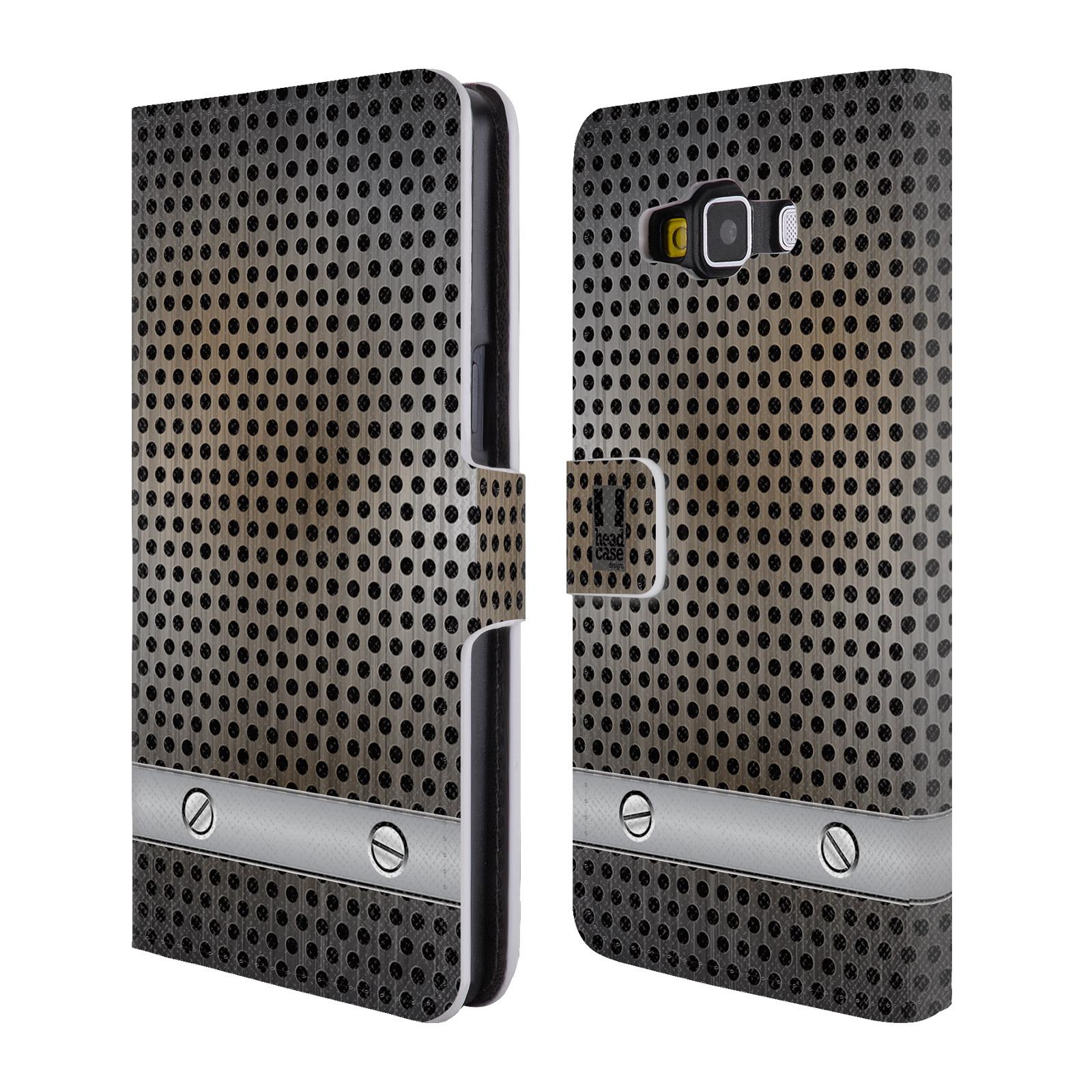 Flipové pouzdro na mobil Samsung Galaxy A5 HEAD CASE INDUSTRIAL SHEET (Flipový vyklápěcí kryt či obal z umělé kůže na mobilní telefon Samsung Galaxy A5 SM-A500)