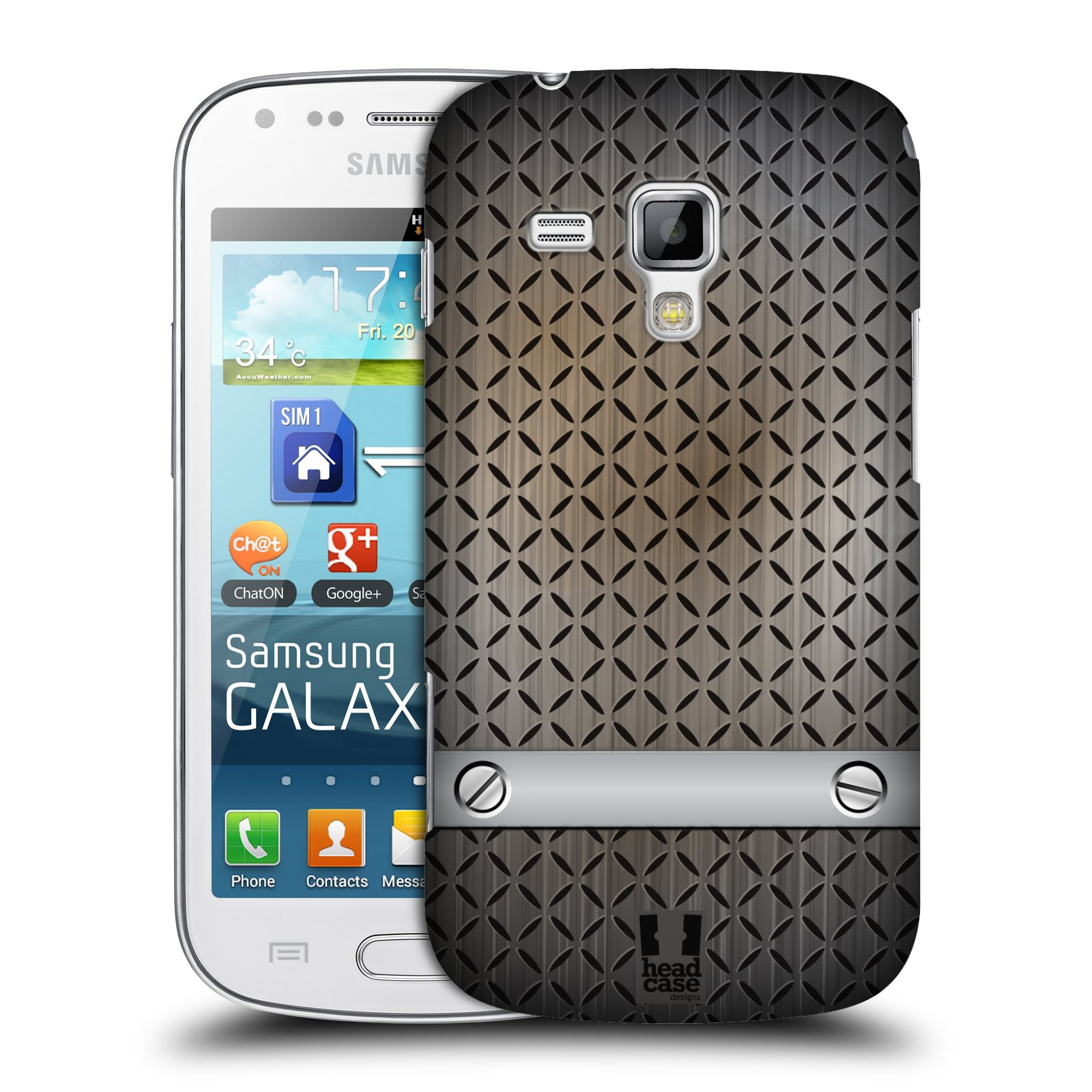 Plastové pouzdro na mobil Samsung Galaxy S Duos HEAD CASE INDUSTRIAL STEEL