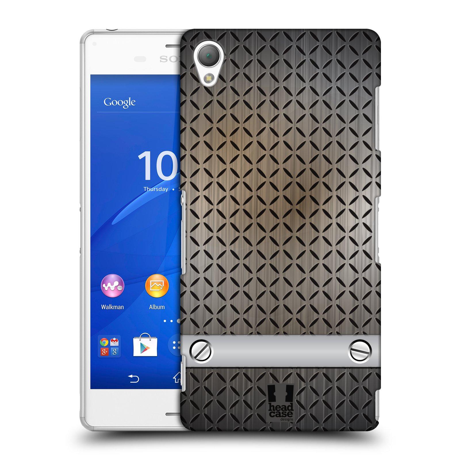 Plastové pouzdro na mobil Sony Xperia Z3 D6603 HEAD CASE INDUSTRIAL STEEL
