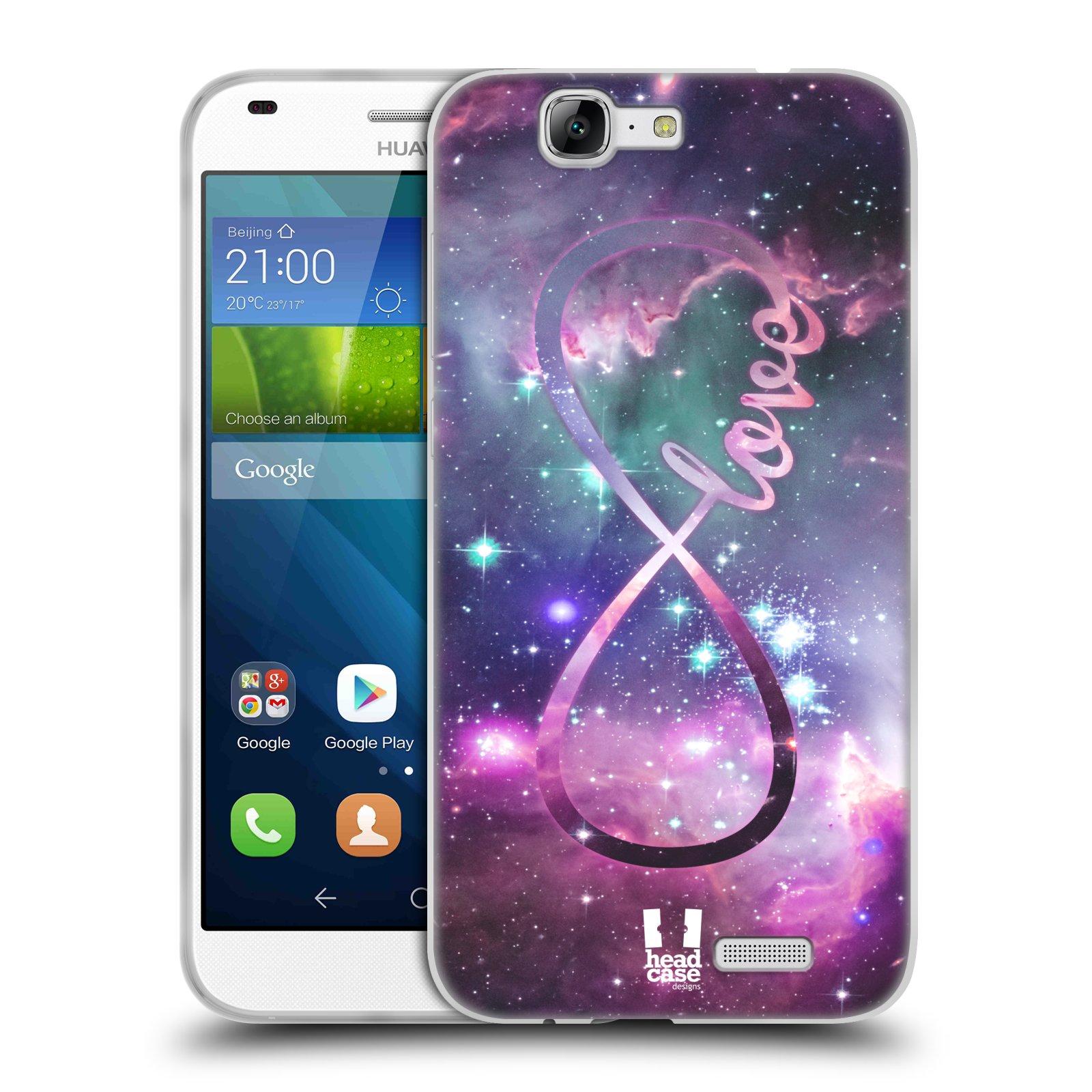 Silikonové pouzdro na mobil Huawei Ascend G7 HEAD CASE NEKONEČNÁ LÁSKA