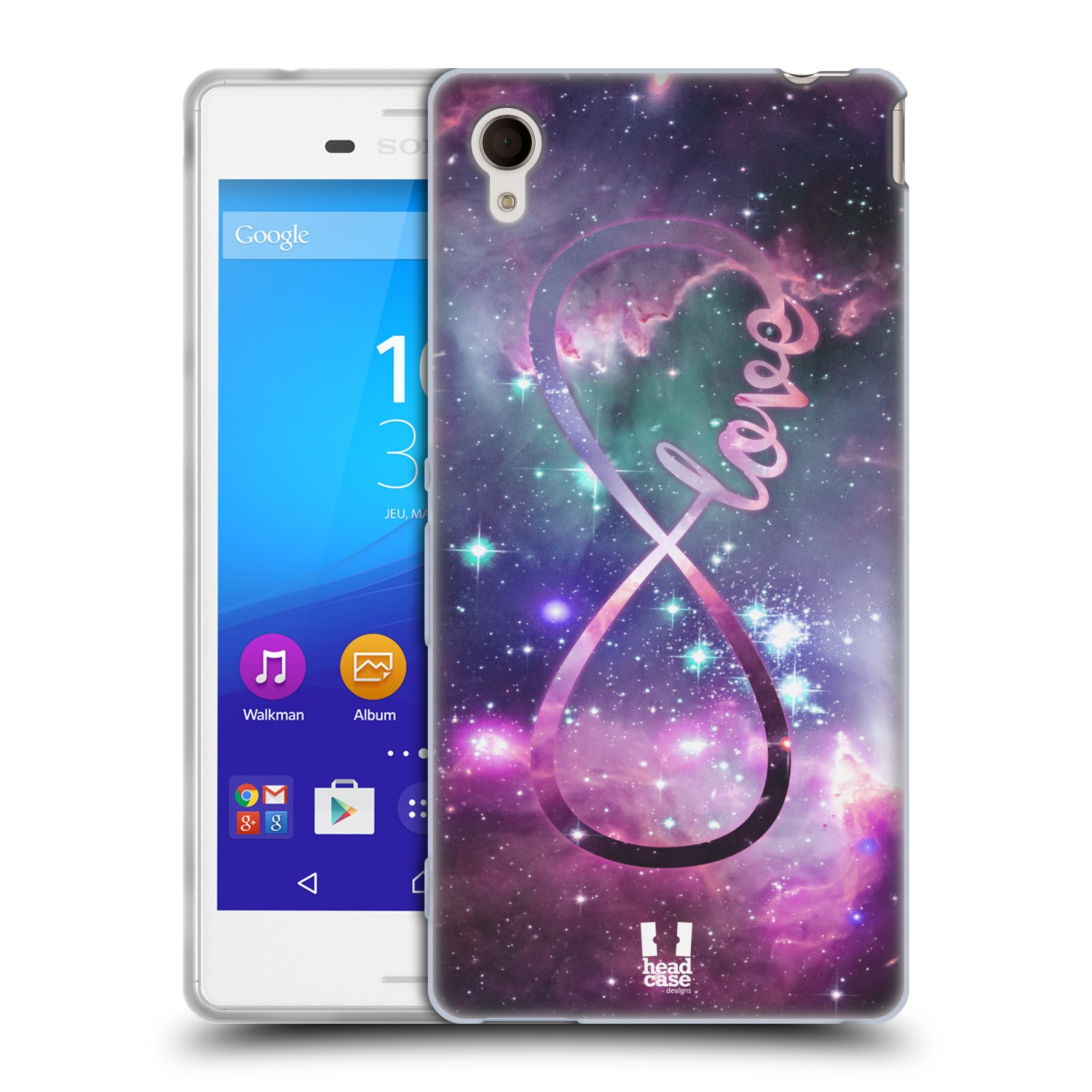 Silikonové pouzdro na mobil Sony Xperia M4 Aqua E2303 HEAD CASE NEKONEČNÁ LÁSKA