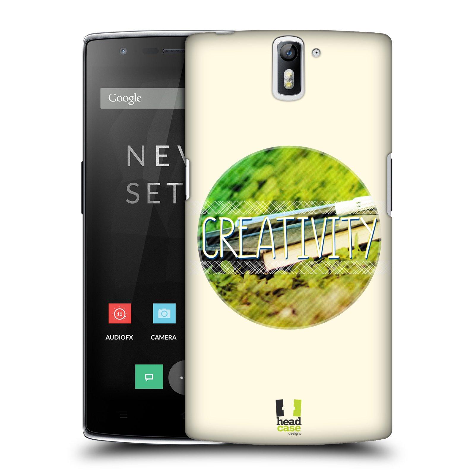 Plastové pouzdro na mobil OnePlus One HEAD CASE INSPIRACE V KRUHU KREATIVITA (Kryt či obal na mobilní telefon OnePlus One)