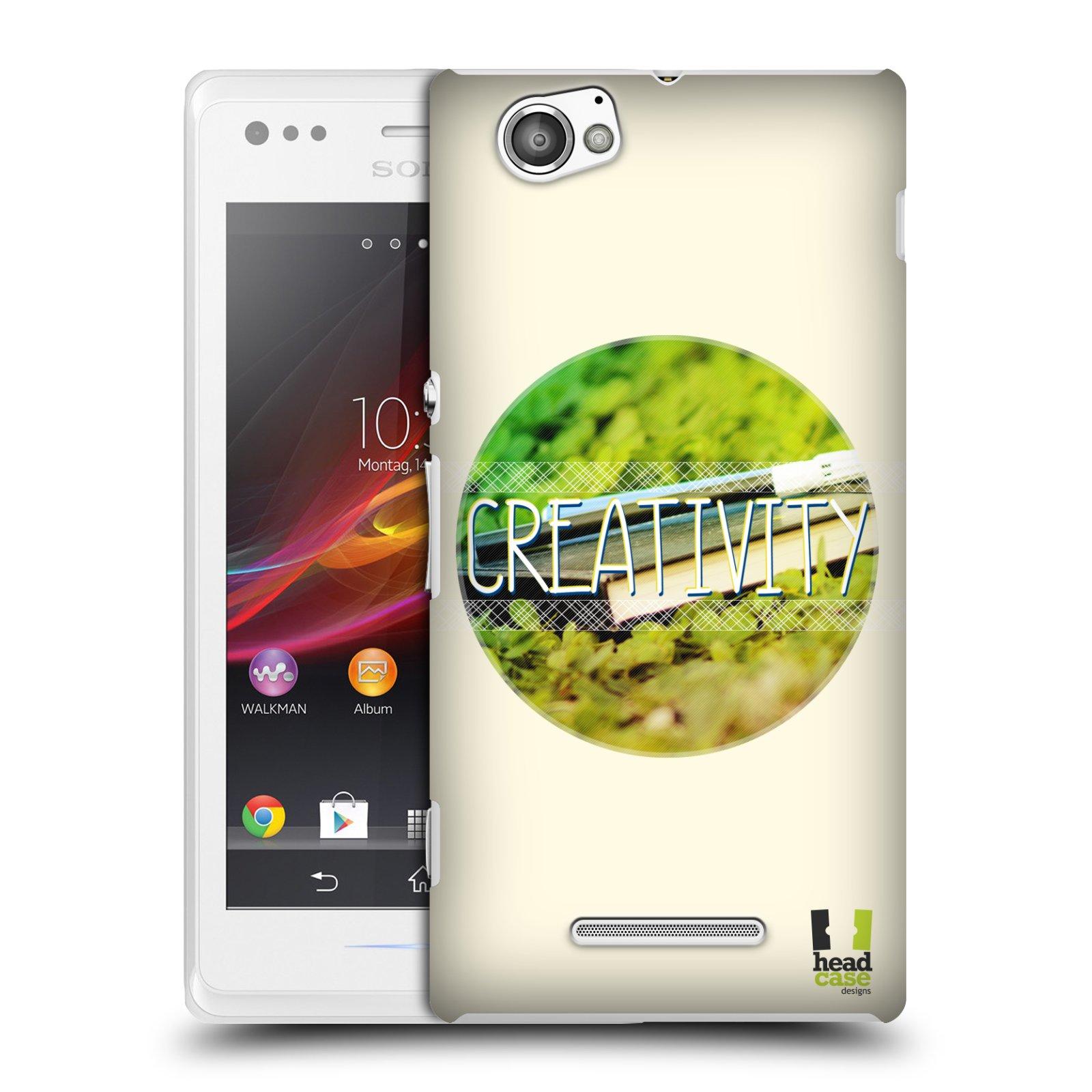 Plastové pouzdro na mobil Sony Xperia M C1905 HEAD CASE INSPIRACE V KRUHU KREATIVITA (Kryt či obal na mobilní telefon Sony Xperia M a M Dual)