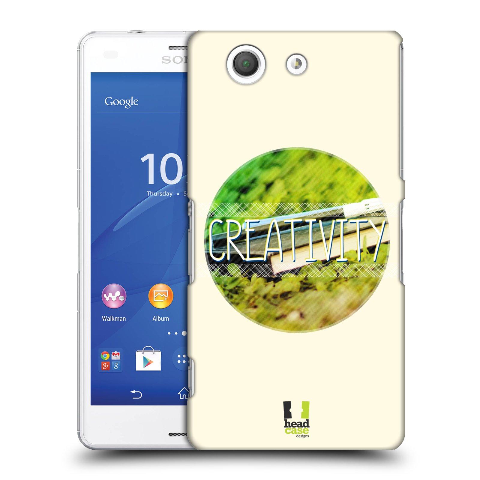 Plastové pouzdro na mobil Sony Xperia Z3 Compact D5803 HEAD CASE INSPIRACE V KRUHU KREATIVITA