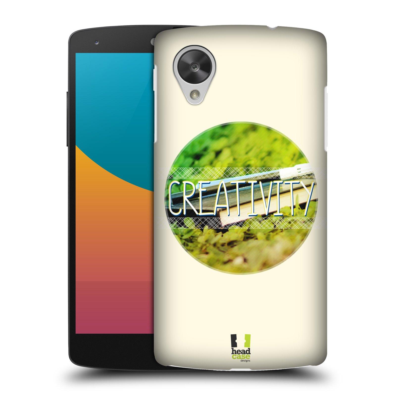 Plastové pouzdro na mobil LG Nexus 5 HEAD CASE INSPIRACE V KRUHU KREATIVITA (Kryt či obal na mobilní telefon LG Google Nexus 5 D821)