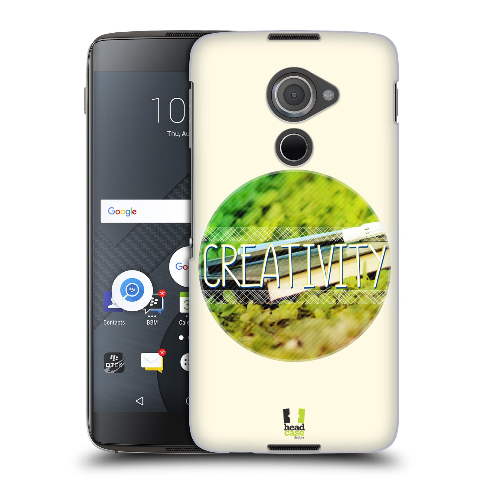 Plastové pouzdro na mobil Blackberry DTEK60 (Argon) - Head Case INSPIRACE V KRUHU KREATIVITA (Plastový kryt či obal na mobilní telefon Blackberry DTEK60 (Argon))
