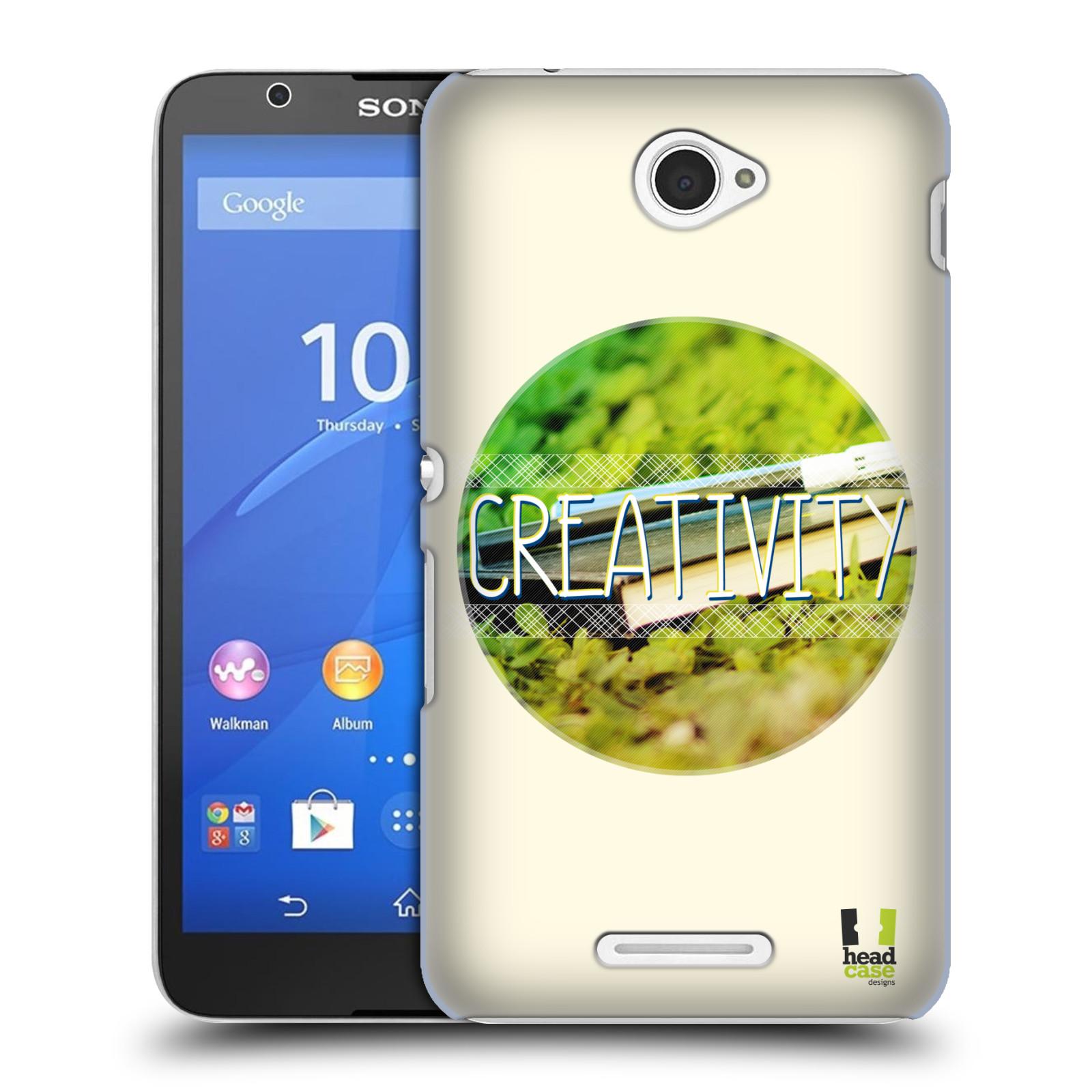 Plastové pouzdro na mobil Sony Xperia E4 E2105 HEAD CASE INSPIRACE V KRUHU KREATIVITA (Kryt či obal na mobilní telefon Sony Xperia E4 a E4 Dual SIM)