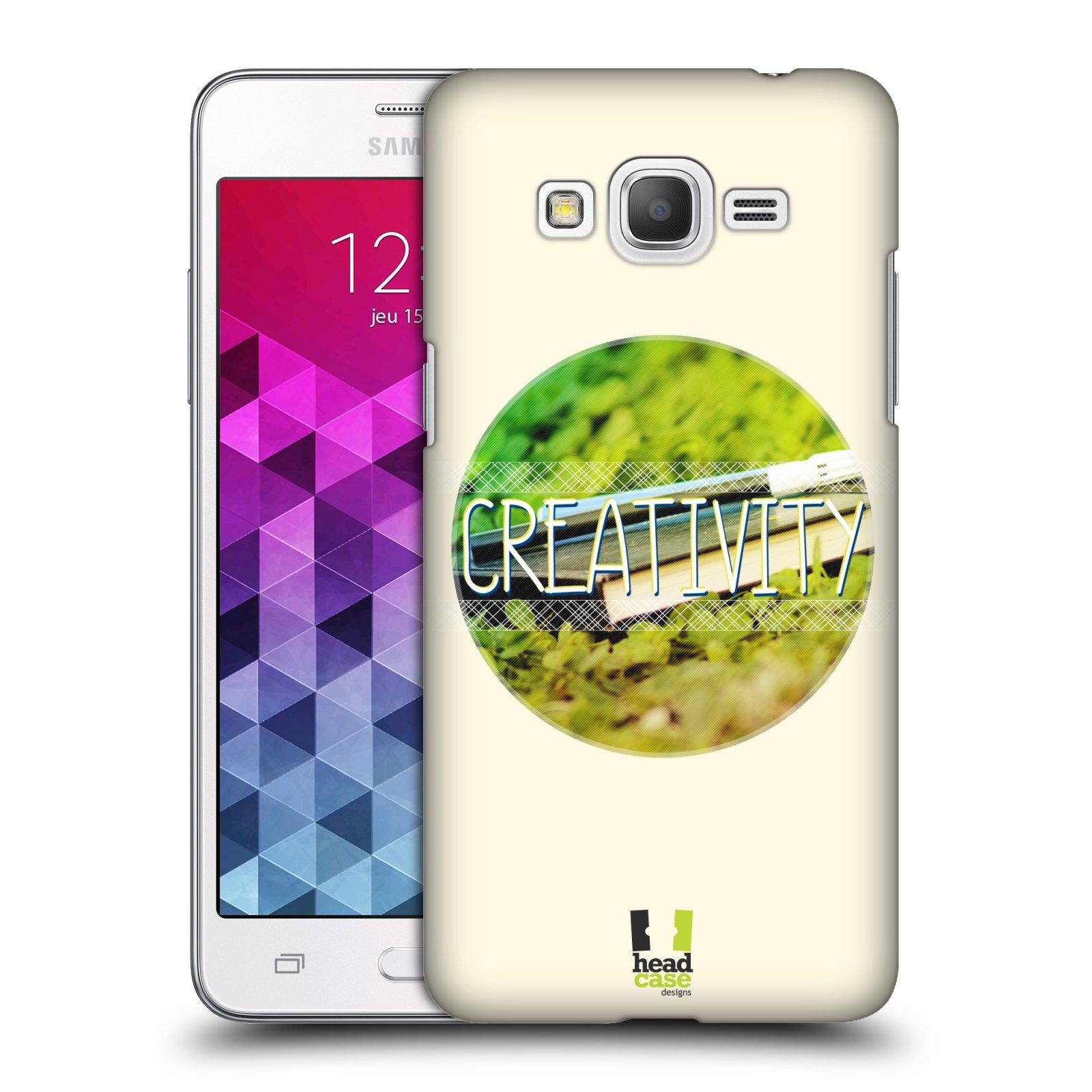 Plastové pouzdro na mobil Samsung Galaxy Grand Prime HEAD CASE INSPIRACE V KRUHU KREATIVITA (Kryt či obal na mobilní telefon Samsung Galaxy Grand Prime SM-G530)