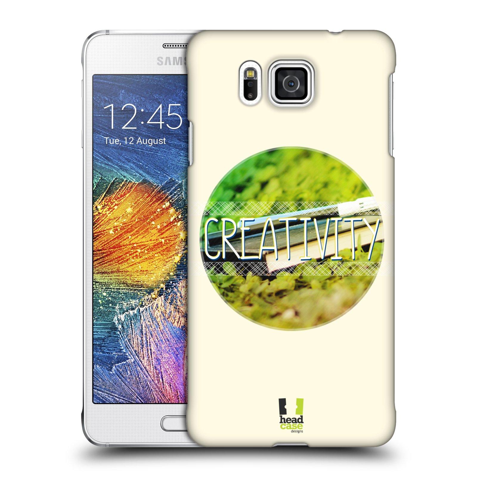 Plastové pouzdro na mobil Samsung Galaxy Alpha HEAD CASE INSPIRACE V KRUHU KREATIVITA (Kryt či obal na mobilní telefon Samsung Galaxy Alpha SM-G850)