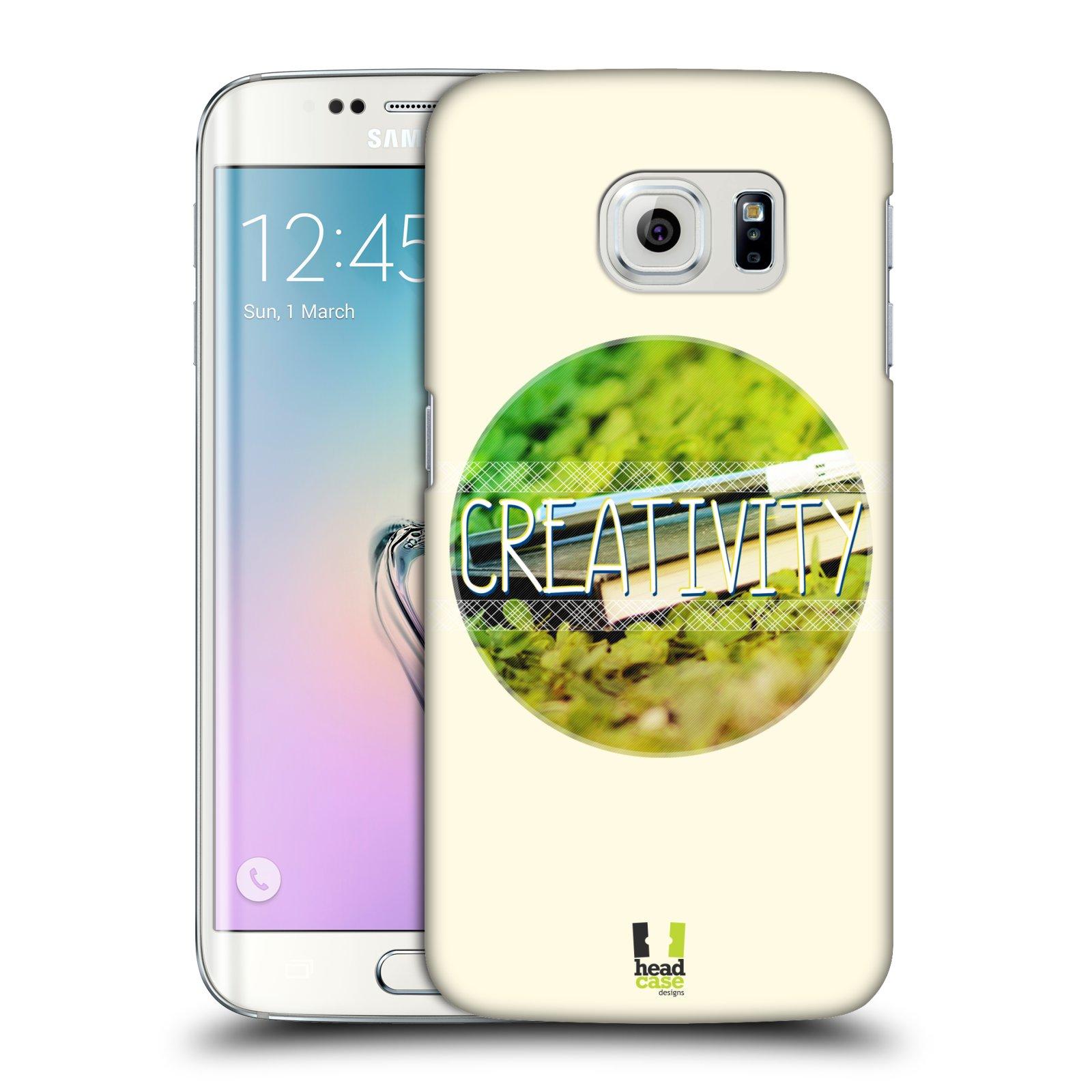 Plastové pouzdro na mobil Samsung Galaxy S6 Edge HEAD CASE INSPIRACE V KRUHU KREATIVITA (Kryt či obal na mobilní telefon Samsung Galaxy S6 Edge SM-G925F)