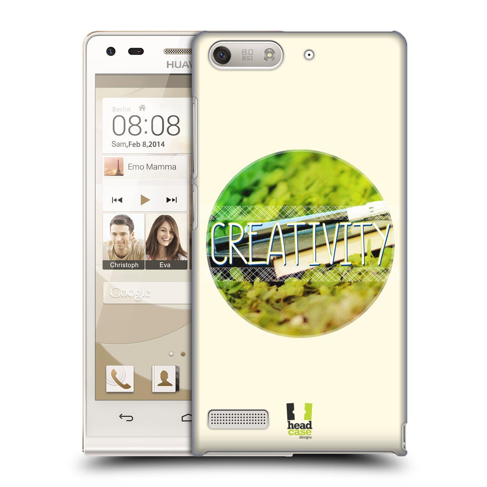 Plastové pouzdro na mobil Huawei Ascend G6 HEAD CASE INSPIRACE V KRUHU KREATIVITA (Kryt či obal na mobilní telefon Huawei Ascend G6 bez LTE)