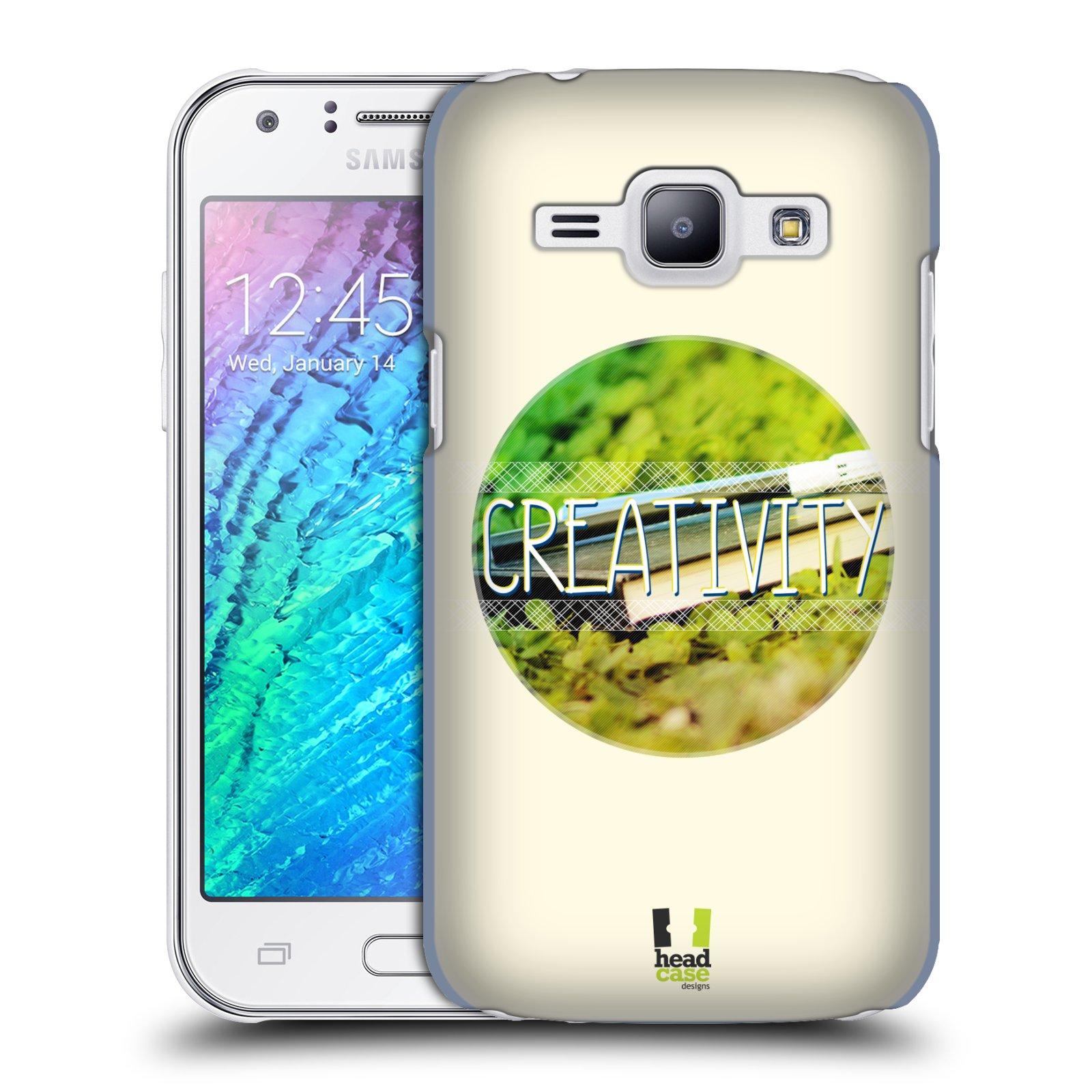 Plastové pouzdro na mobil Samsung Galaxy J1 HEAD CASE INSPIRACE V KRUHU KREATIVITA (Kryt či obal na mobilní telefon Samsung Galaxy J1 a J1 Duos )