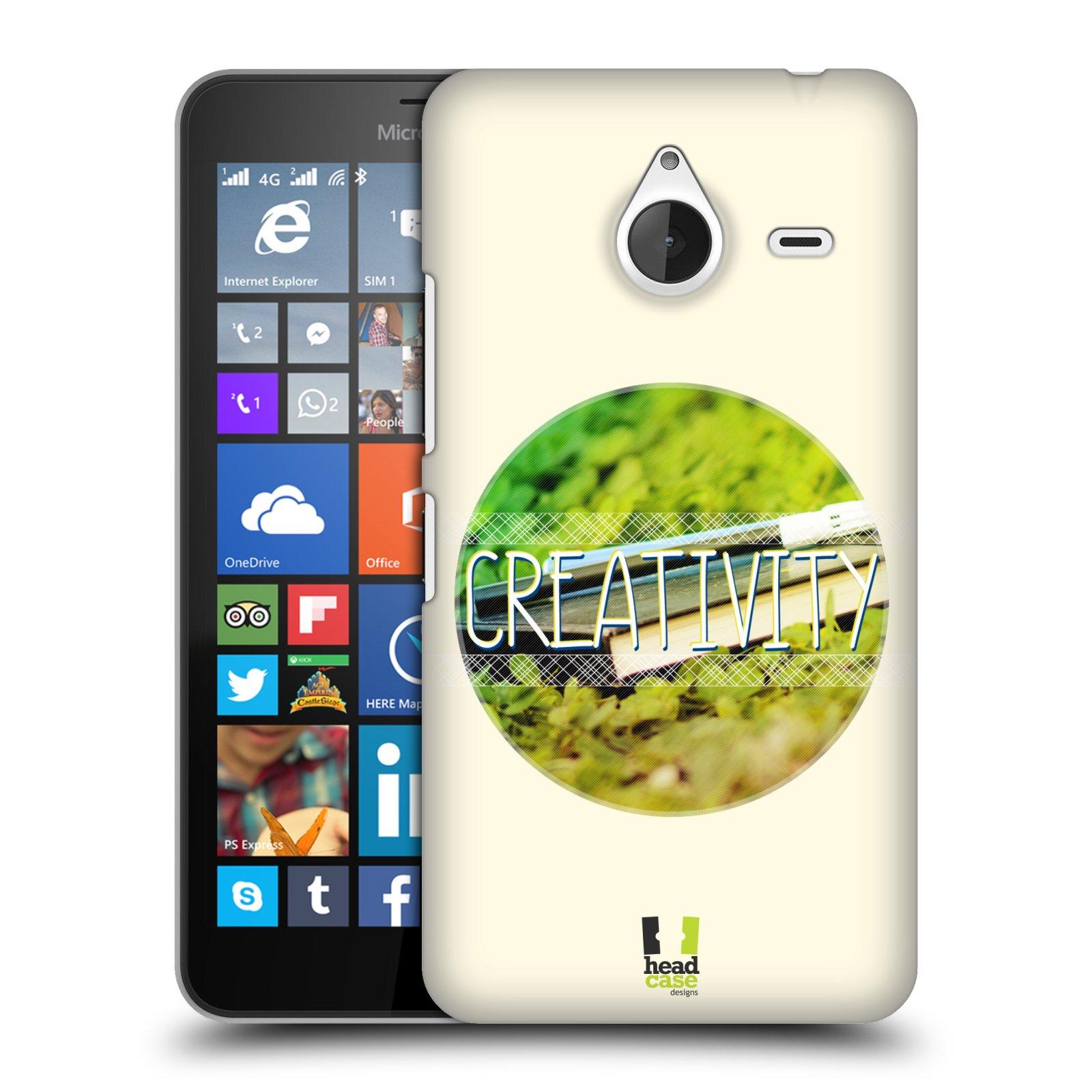 Plastové pouzdro na mobil Microsoft Lumia 640 XL HEAD CASE INSPIRACE V KRUHU KREATIVITA (Kryt či obal na mobilní telefon Microsoft Lumia 640 XL)