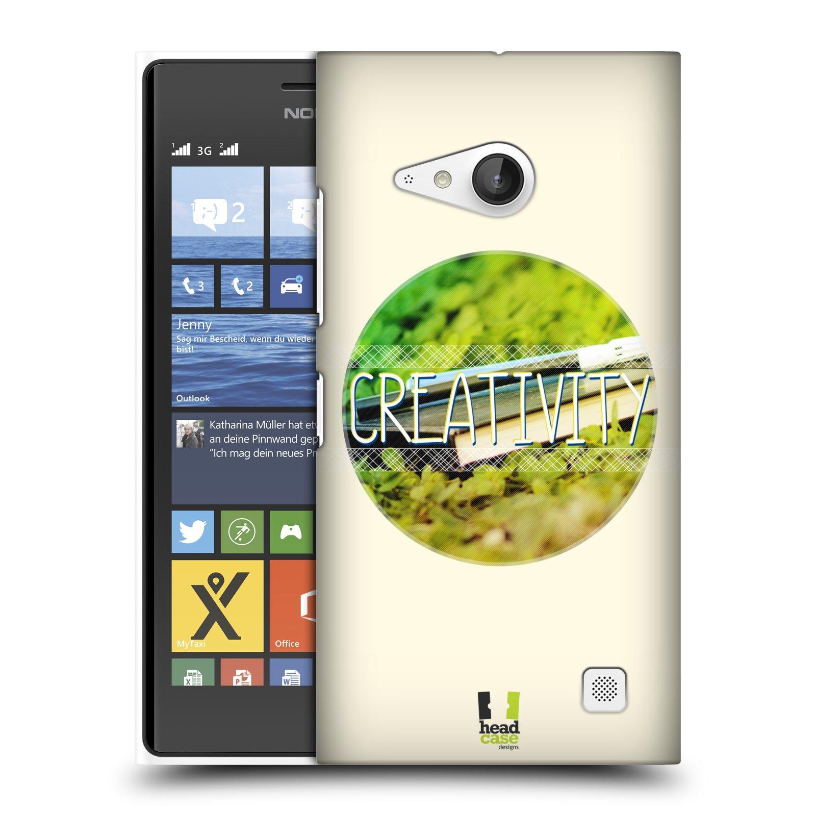 Plastové pouzdro na mobil Nokia Lumia 730 Dual SIM HEAD CASE INSPIRACE V KRUHU KREATIVITA (Kryt či obal na mobilní telefon Nokia Lumia 730 Dual SIM)