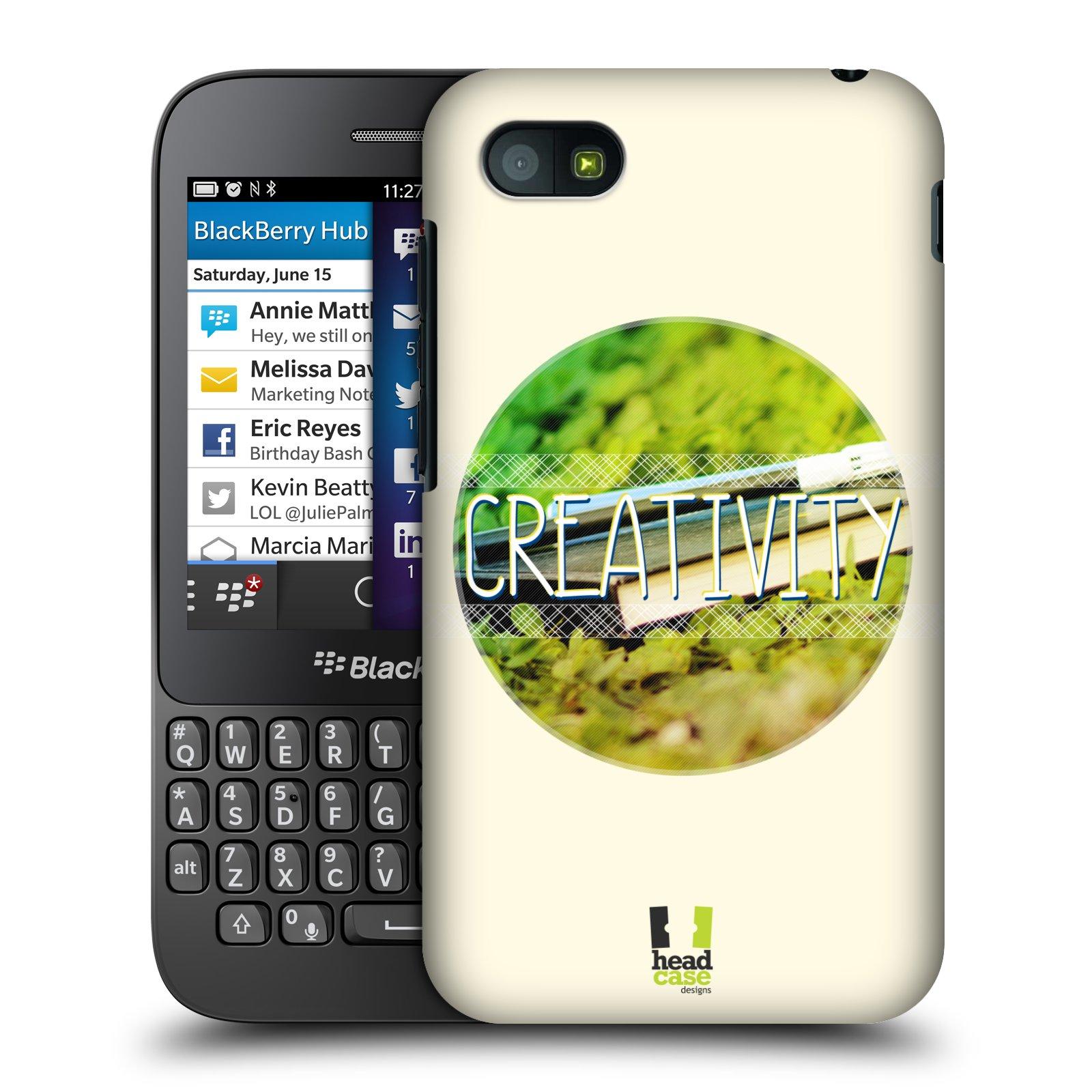 Plastové pouzdro na mobil Blackberry Q5 HEAD CASE INSPIRACE V KRUHU KREATIVITA (Kryt či obal na mobilní telefon Blackberry Q5)