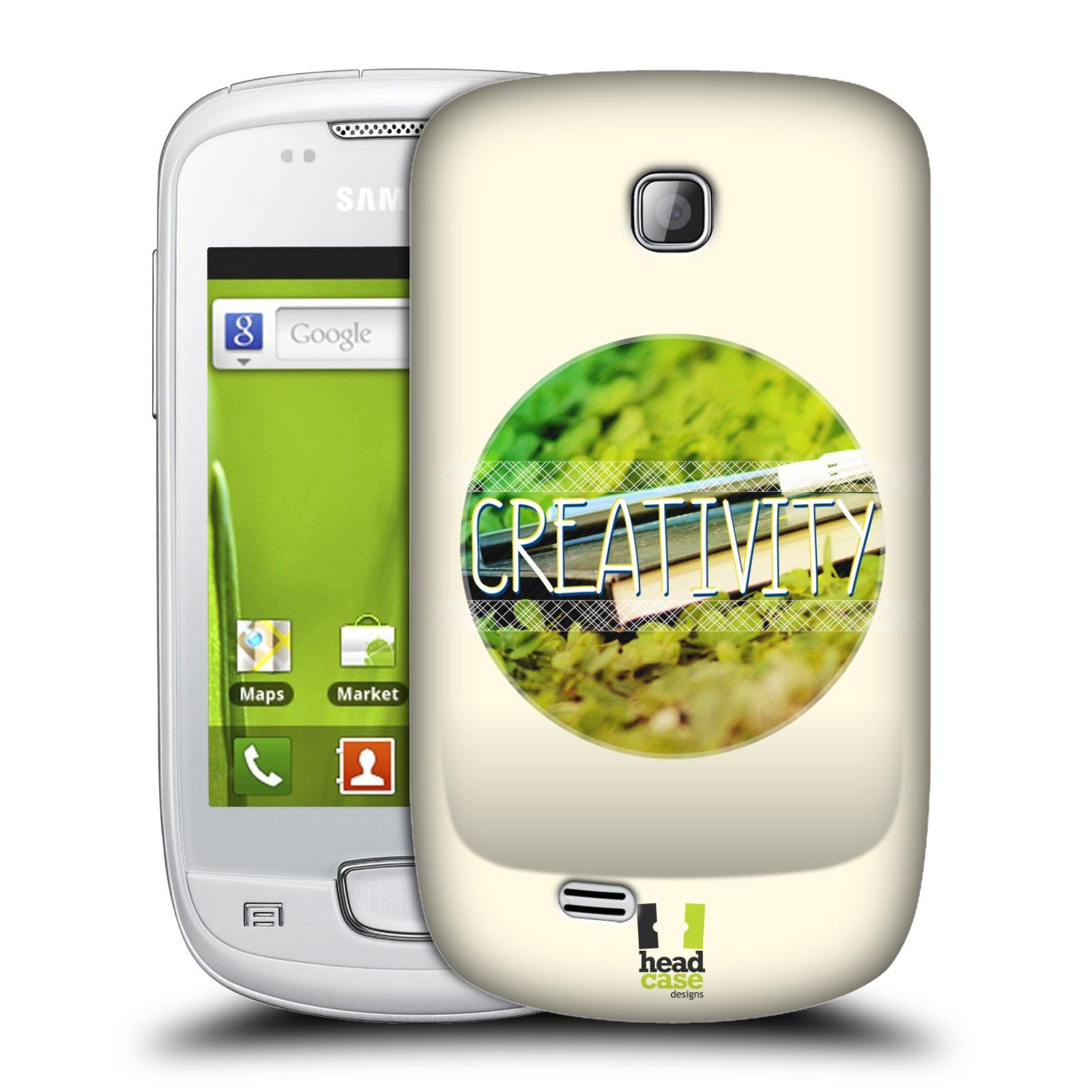 Plastové pouzdro na mobil Samsung Galaxy Mini HEAD CASE INSPIRACE V KRUHU KREATIVITA (Kryt či obal na mobilní telefon Samsung Galaxy Mini GT-S5570 / GT-S5570i)