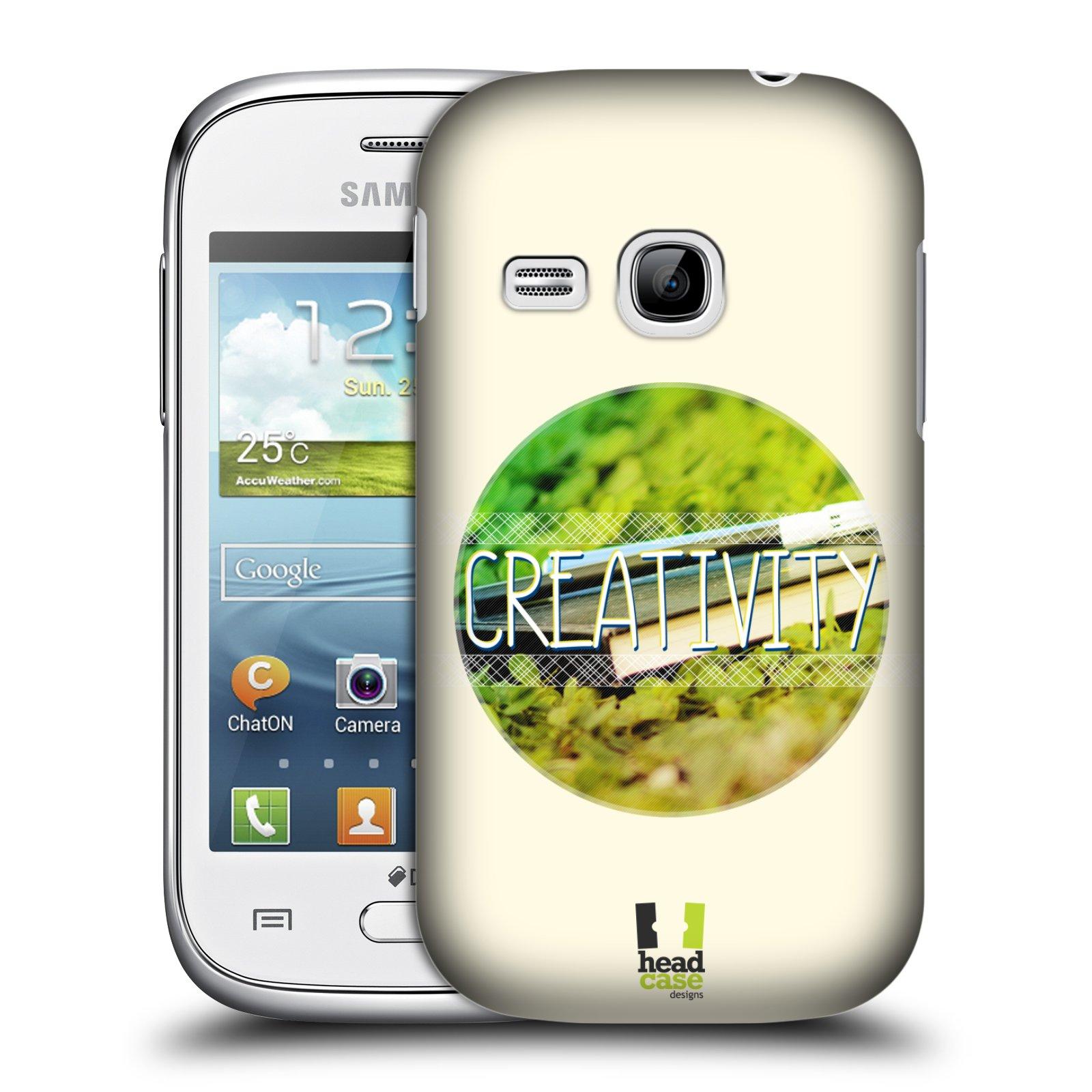 Plastové pouzdro na mobil Samsung Galaxy Young HEAD CASE INSPIRACE V KRUHU KREATIVITA (Kryt či obal na mobilní telefon Samsung Galaxy Young GT-S6310)