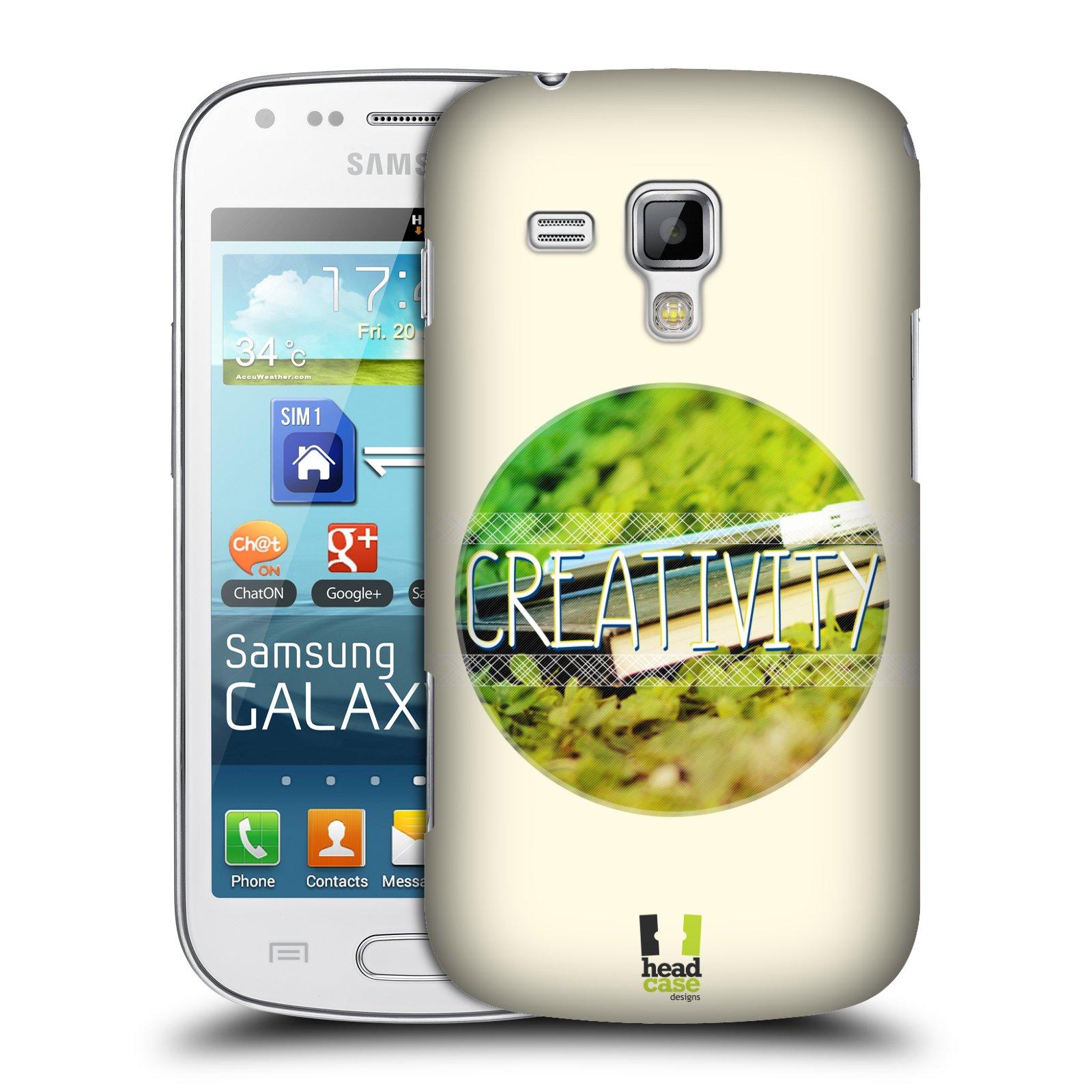 Plastové pouzdro na mobil Samsung Galaxy S Duos HEAD CASE INSPIRACE V KRUHU KREATIVITA (Kryt či obal na mobilní telefon Samsung Galaxy S Duos GT-S7562)
