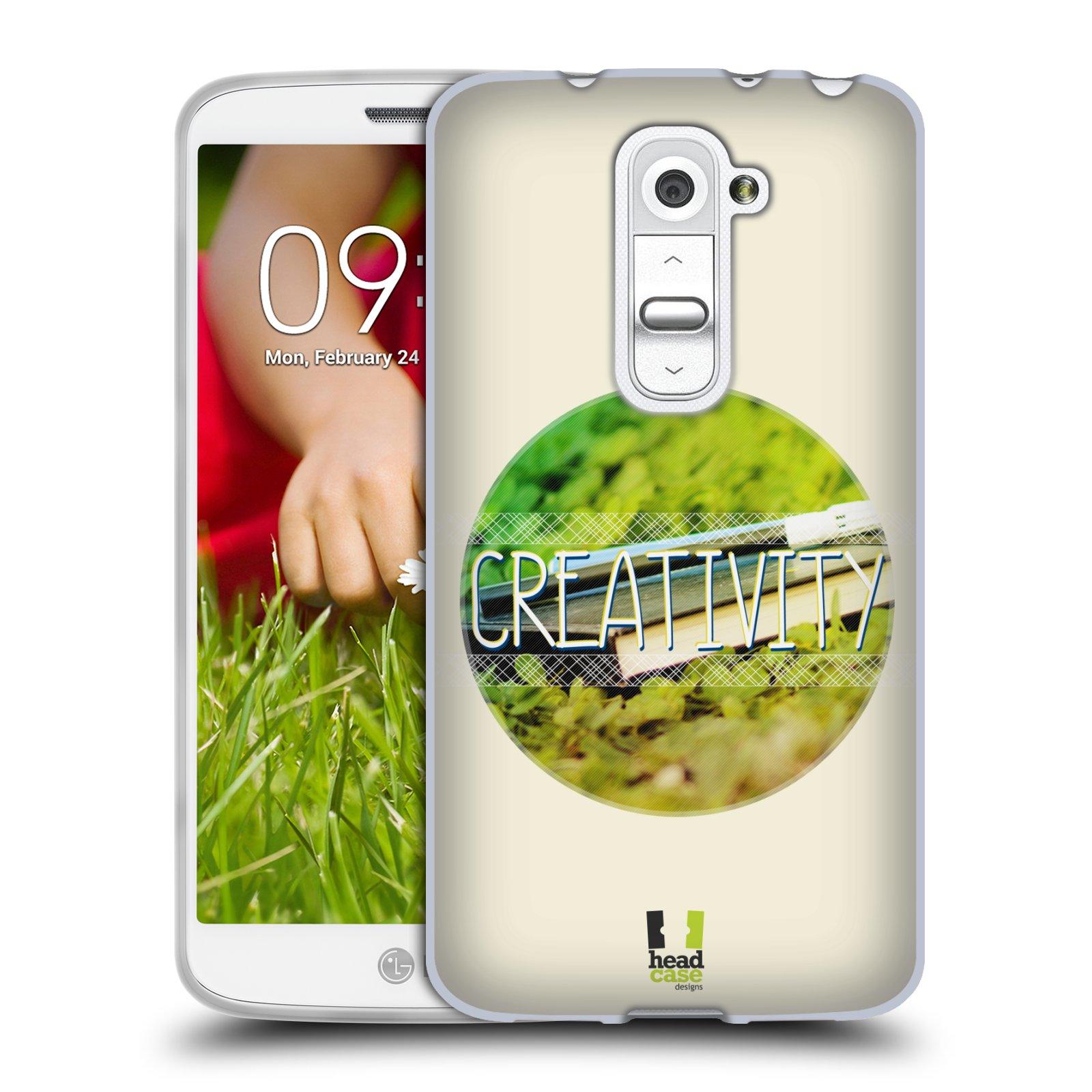 Silikonové pouzdro na mobil LG G2 Mini HEAD CASE INSPIRACE V KRUHU KREATIVITA (Silikonový kryt či obal na mobilní telefon LG G2 Mini D620)