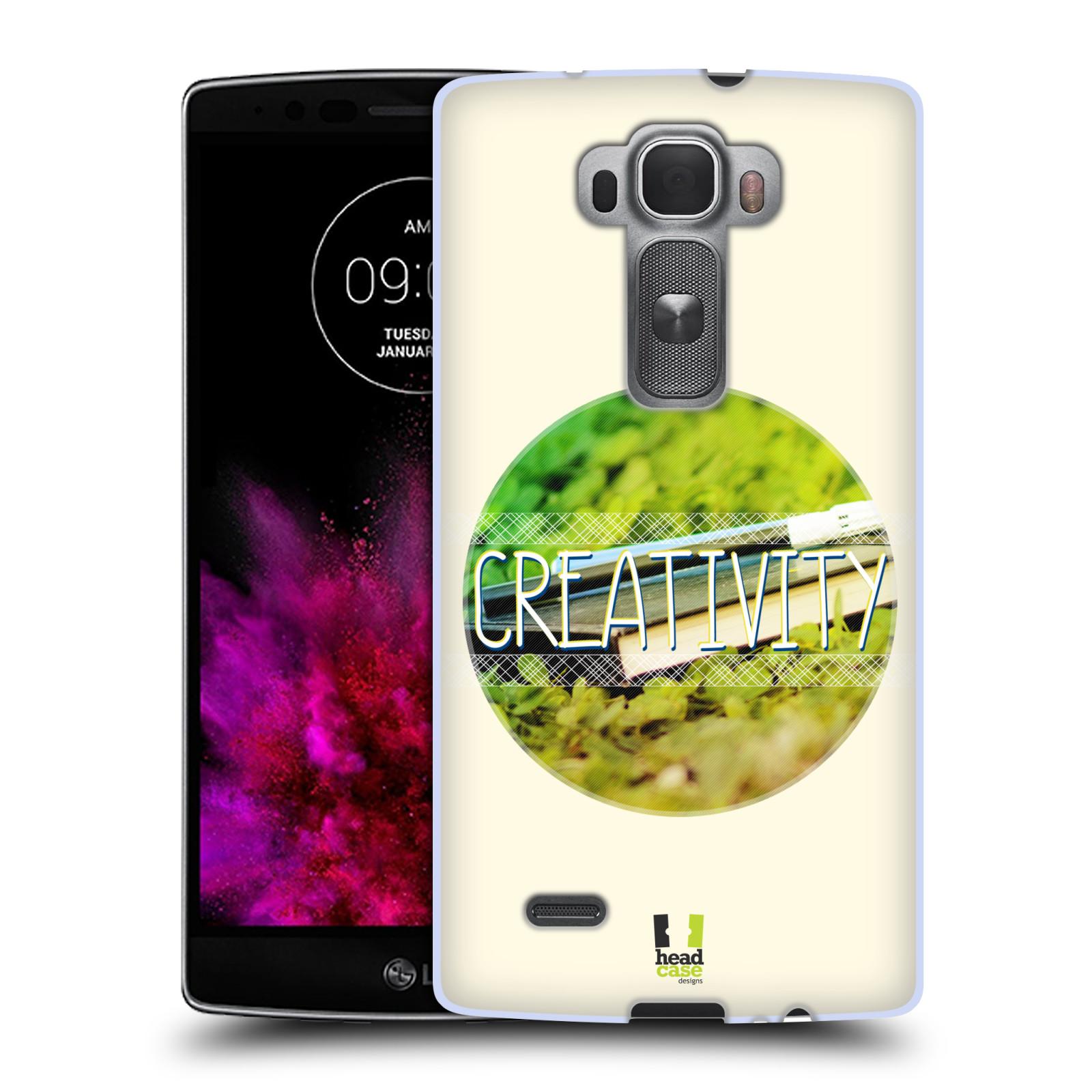 Silikonové pouzdro na mobil LG G Flex 2 HEAD CASE INSPIRACE V KRUHU KREATIVITA (Silikonový kryt či obal na mobilní telefon LG G Flex 2 H955)