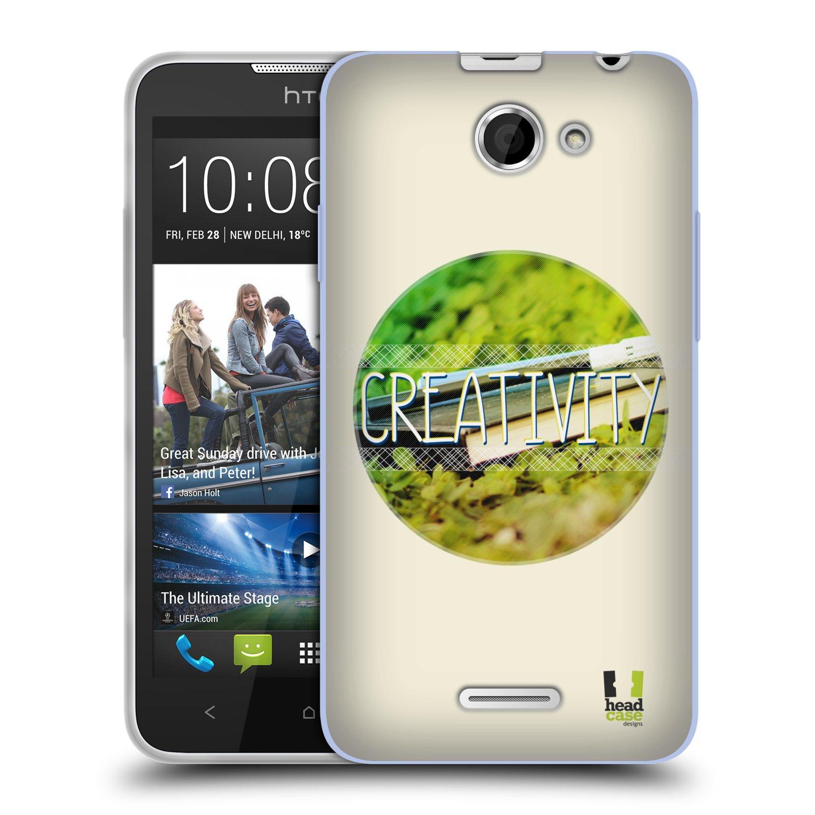Silikonové pouzdro na mobil HTC Desire 516 HEAD CASE INSPIRACE V KRUHU KREATIVITA (Silikonový kryt či obal na mobilní telefon HTC Desire 516 Dual SIM)