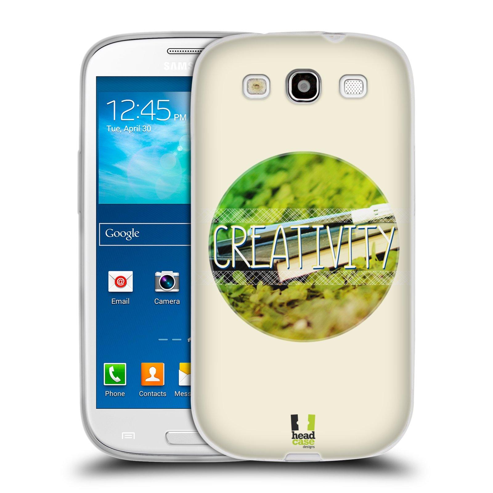 Silikonové pouzdro na mobil Samsung Galaxy S III HEAD CASE INSPIRACE V KRUHU KREATIVITA (Silikonový kryt či obal na mobilní telefon Samsung Galaxy S III GT-i9300)