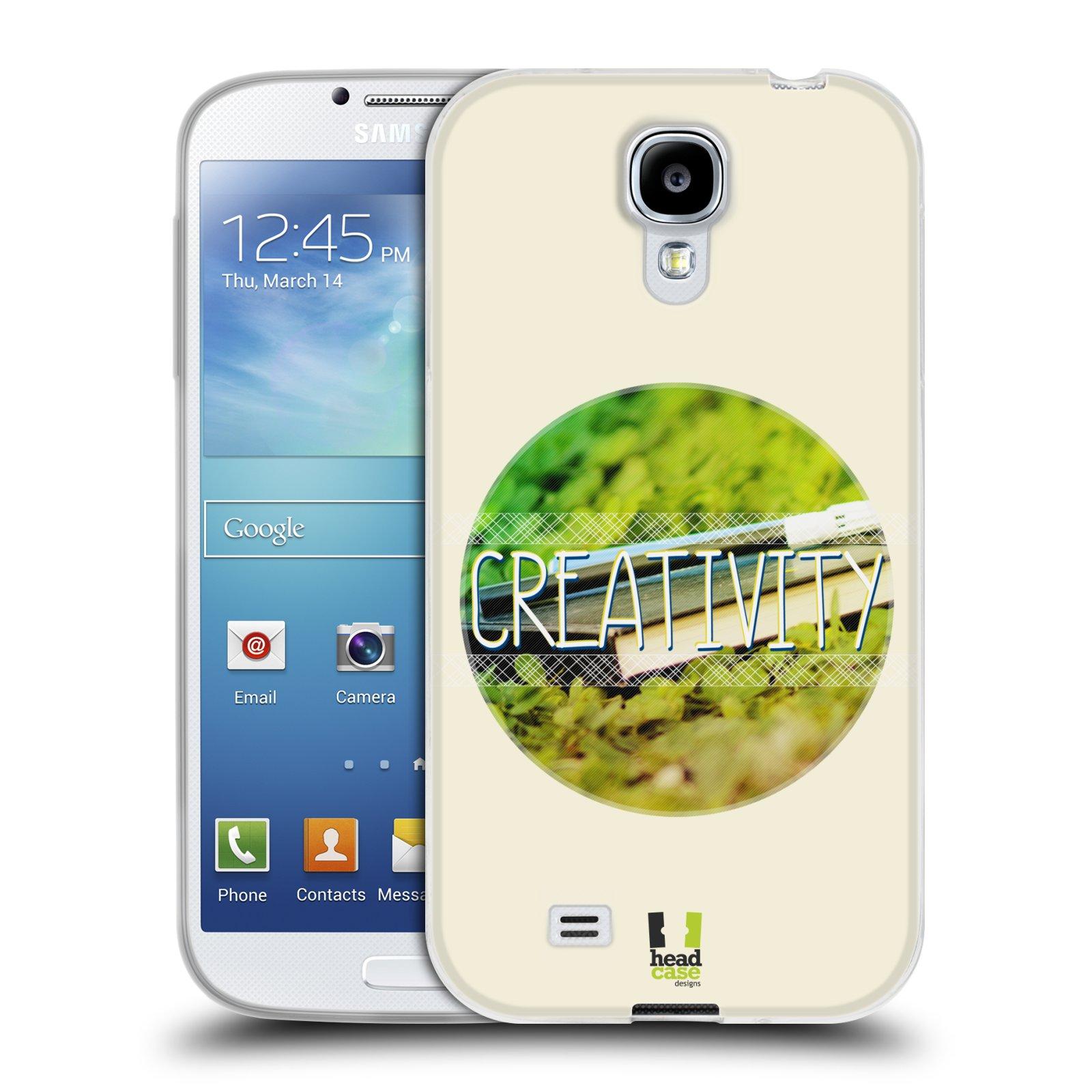 Silikonové pouzdro na mobil Samsung Galaxy S4 HEAD CASE INSPIRACE V KRUHU KREATIVITA (Silikonový kryt či obal na mobilní telefon Samsung Galaxy S4 GT-i9505 / i9500)