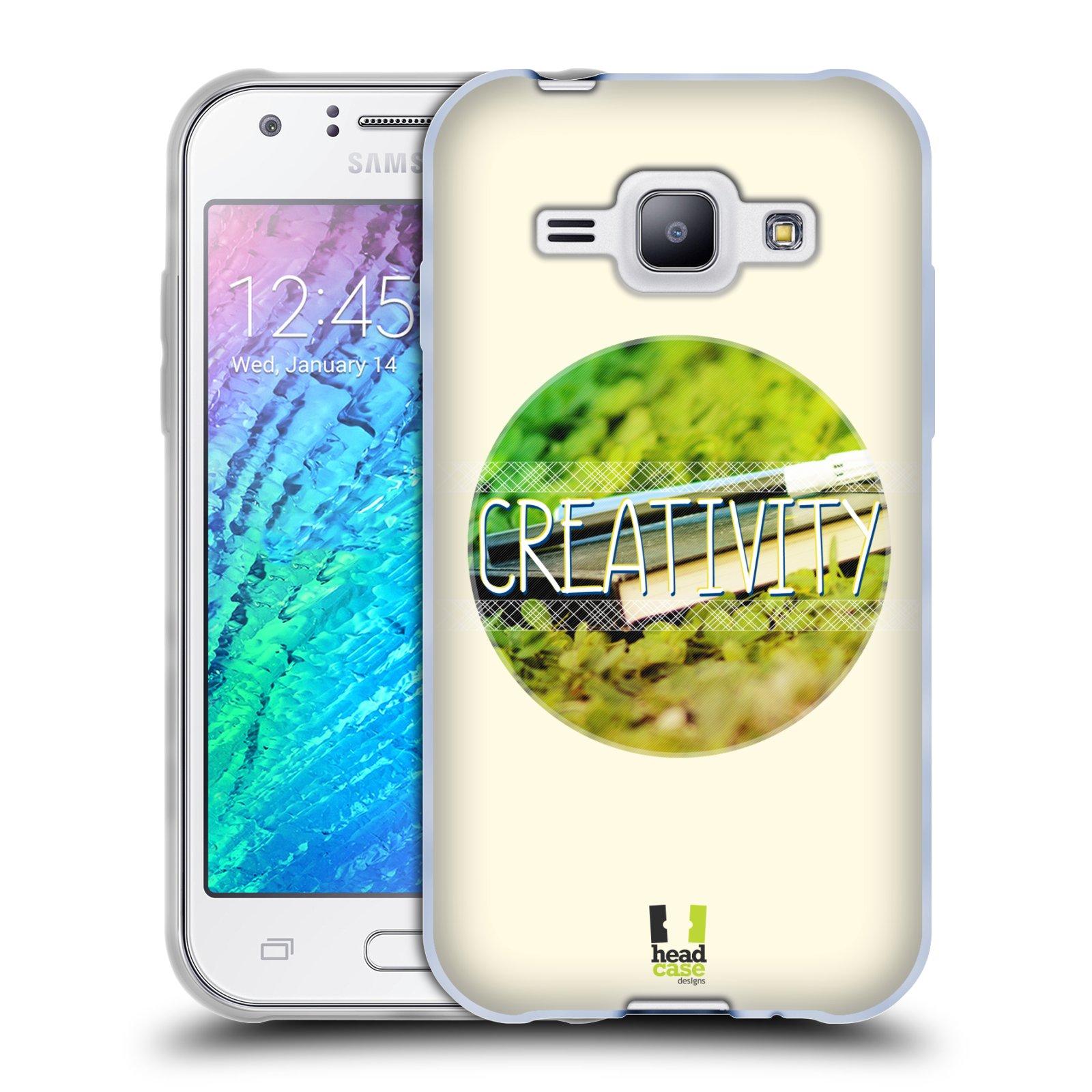 Silikonové pouzdro na mobil Samsung Galaxy J1 HEAD CASE INSPIRACE V KRUHU KREATIVITA (Silikonový kryt či obal na mobilní telefon Samsung Galaxy J1 a J1 Duos)
