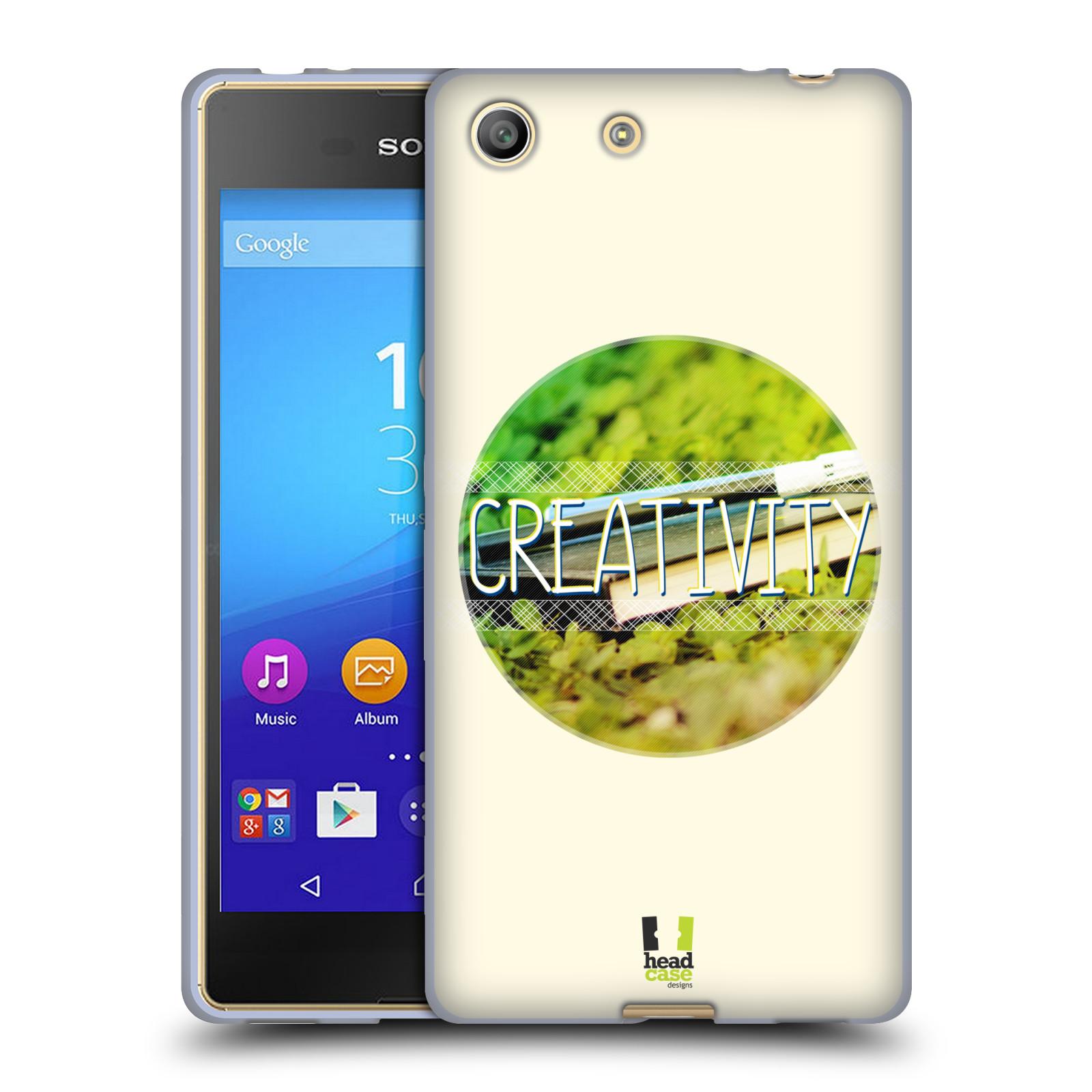 Silikonové pouzdro na mobil Sony Xperia M5 HEAD CASE INSPIRACE V KRUHU KREATIVITA (Silikonový kryt či obal na mobilní telefon Sony Xperia M5 Dual SIM / Aqua)
