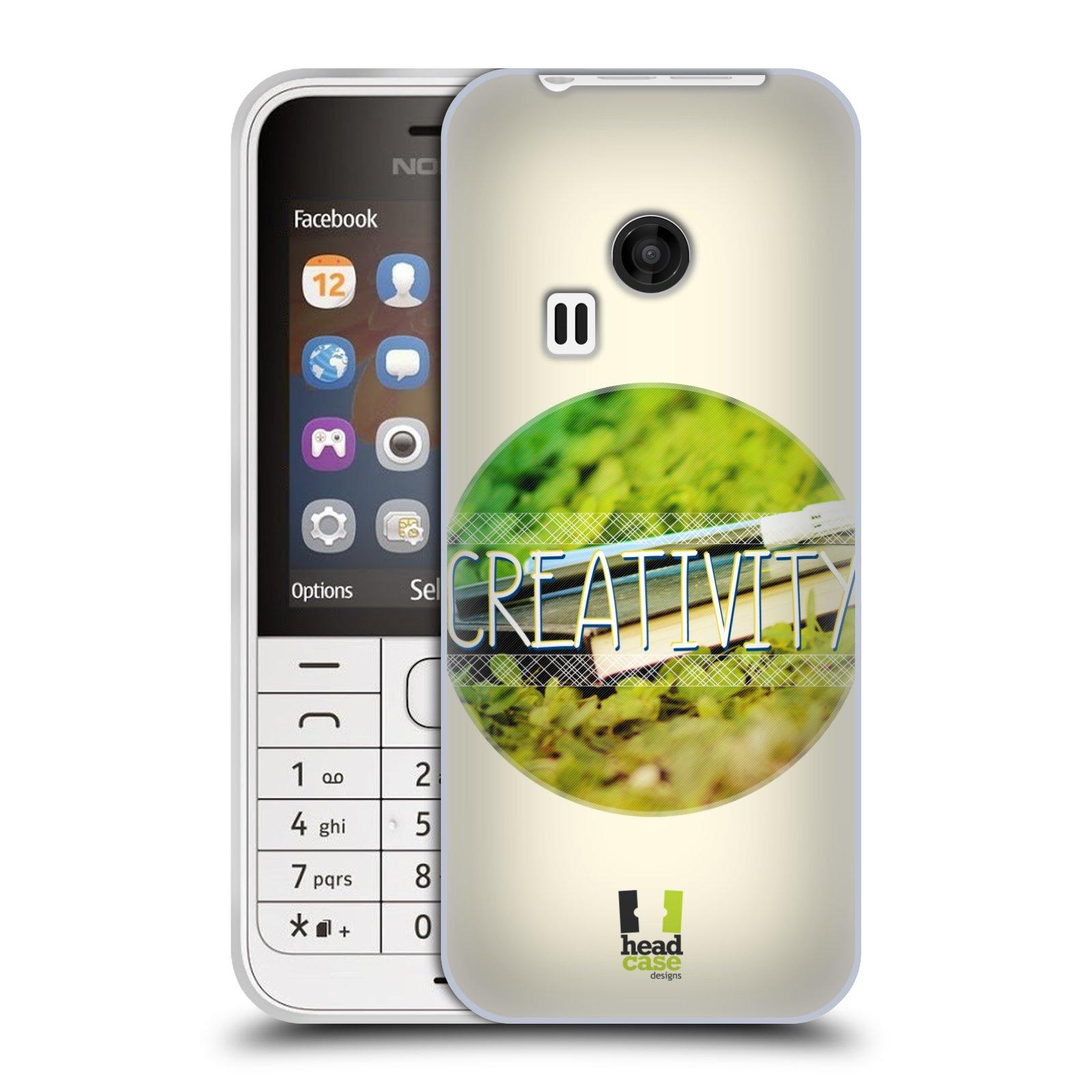 Silikonové pouzdro na mobil Nokia 220 HEAD CASE INSPIRACE V KRUHU KREATIVITA (Silikonový kryt či obal na mobilní telefon Nokia 220 a 220 Dual SIM)