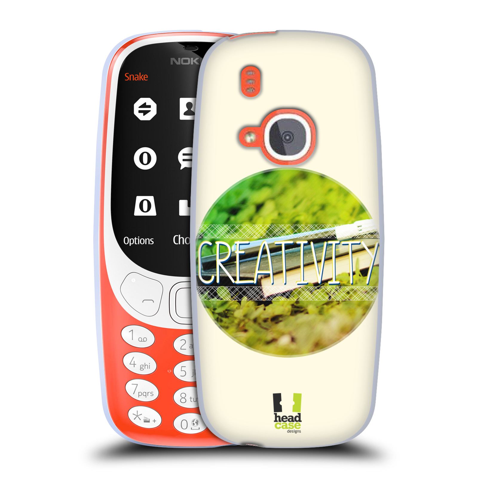 Silikonové pouzdro na mobil Nokia 3310 - Head Case - INSPIRACE V KRUHU KREATIVITA (Silikonový kryt či obal na mobilní telefon Nokia 3310 (2017) s motivem INSPIRACE V KRUHU KREATIVITA)