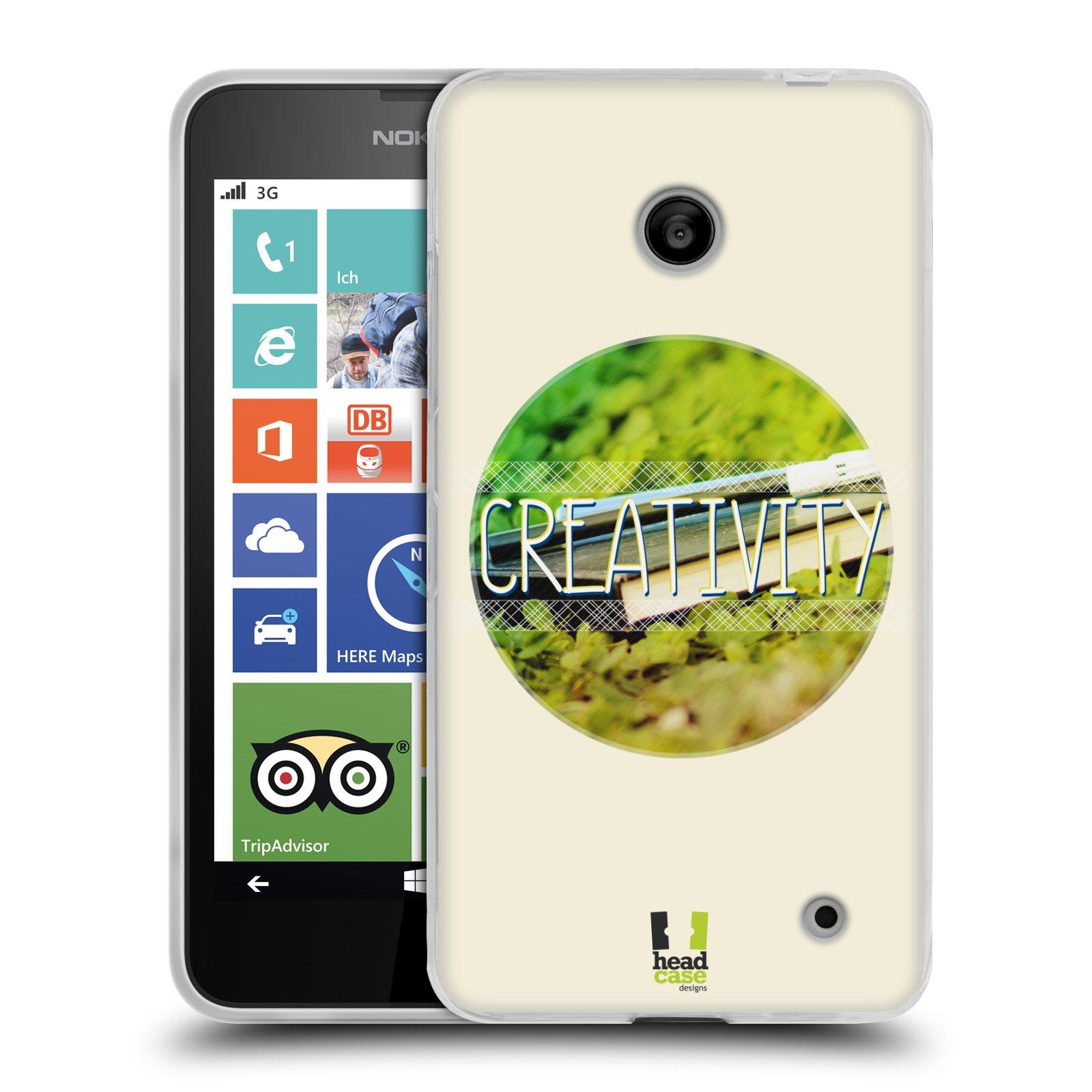 Silikonové pouzdro na mobil Nokia Lumia 635 HEAD CASE INSPIRACE V KRUHU KREATIVITA (Silikonový kryt či obal na mobilní telefon Nokia Lumia 635 Dual SIM)