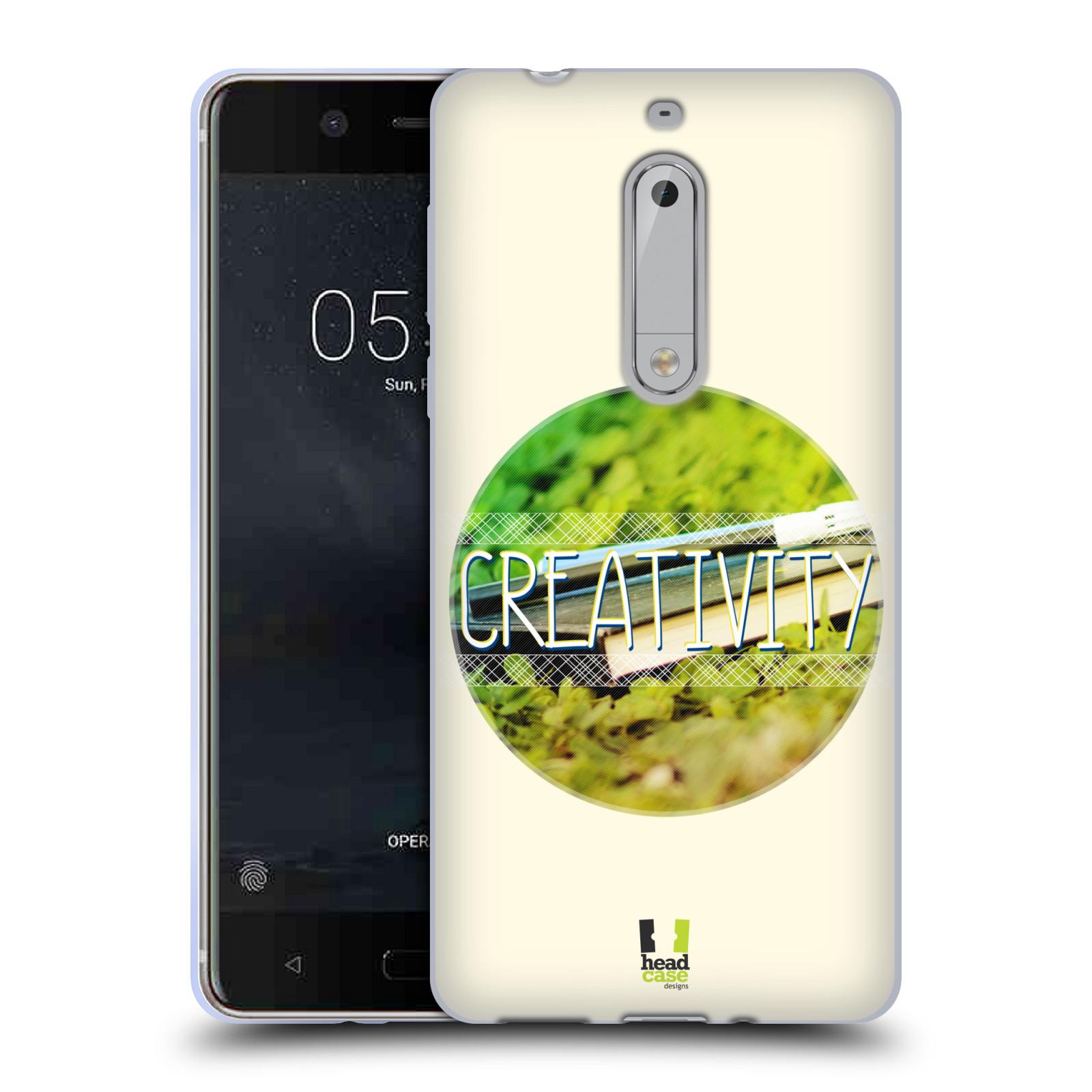 Silikonové pouzdro na mobil Nokia 5 Head Case - INSPIRACE V KRUHU KREATIVITA
