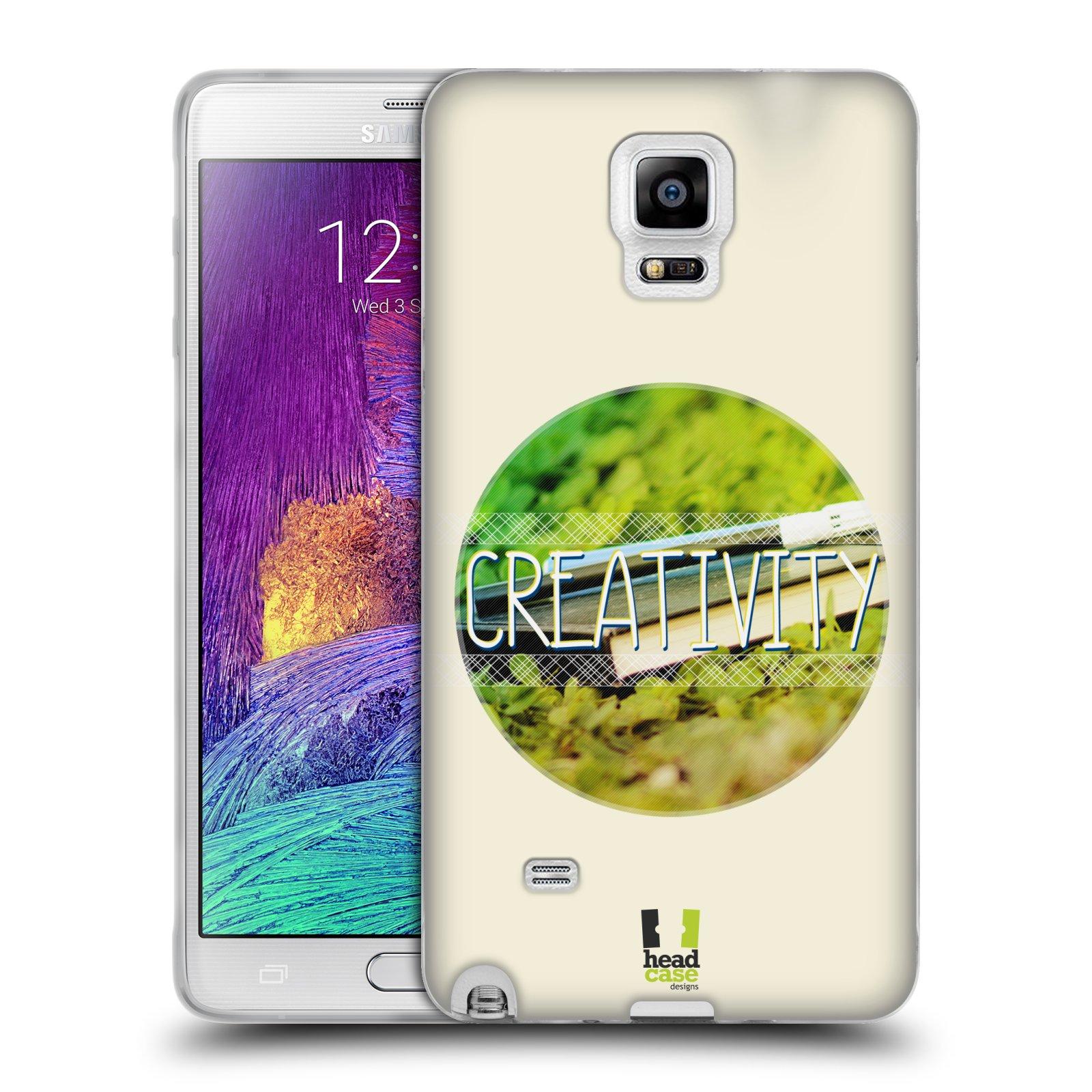 Silikonové pouzdro na mobil Samsung Galaxy Note 4 HEAD CASE INSPIRACE V KRUHU KREATIVITA (Silikonový kryt či obal na mobilní telefon Samsung Galaxy Note 4 SM-N910F)