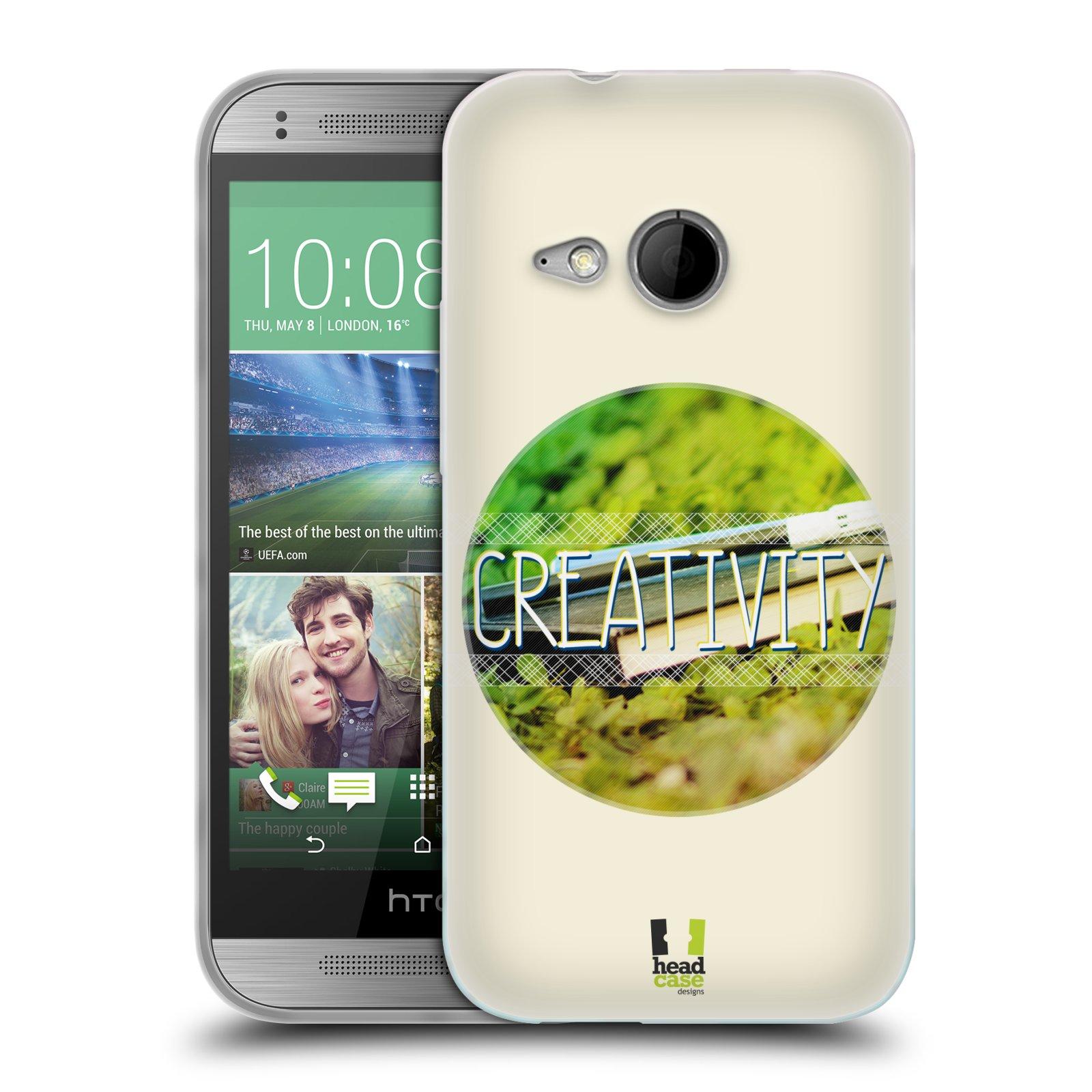 Silikonové pouzdro na mobil HTC ONE Mini 2 HEAD CASE INSPIRACE V KRUHU KREATIVITA (Silikonový kryt či obal na mobilní telefon HTC ONE Mini 2)