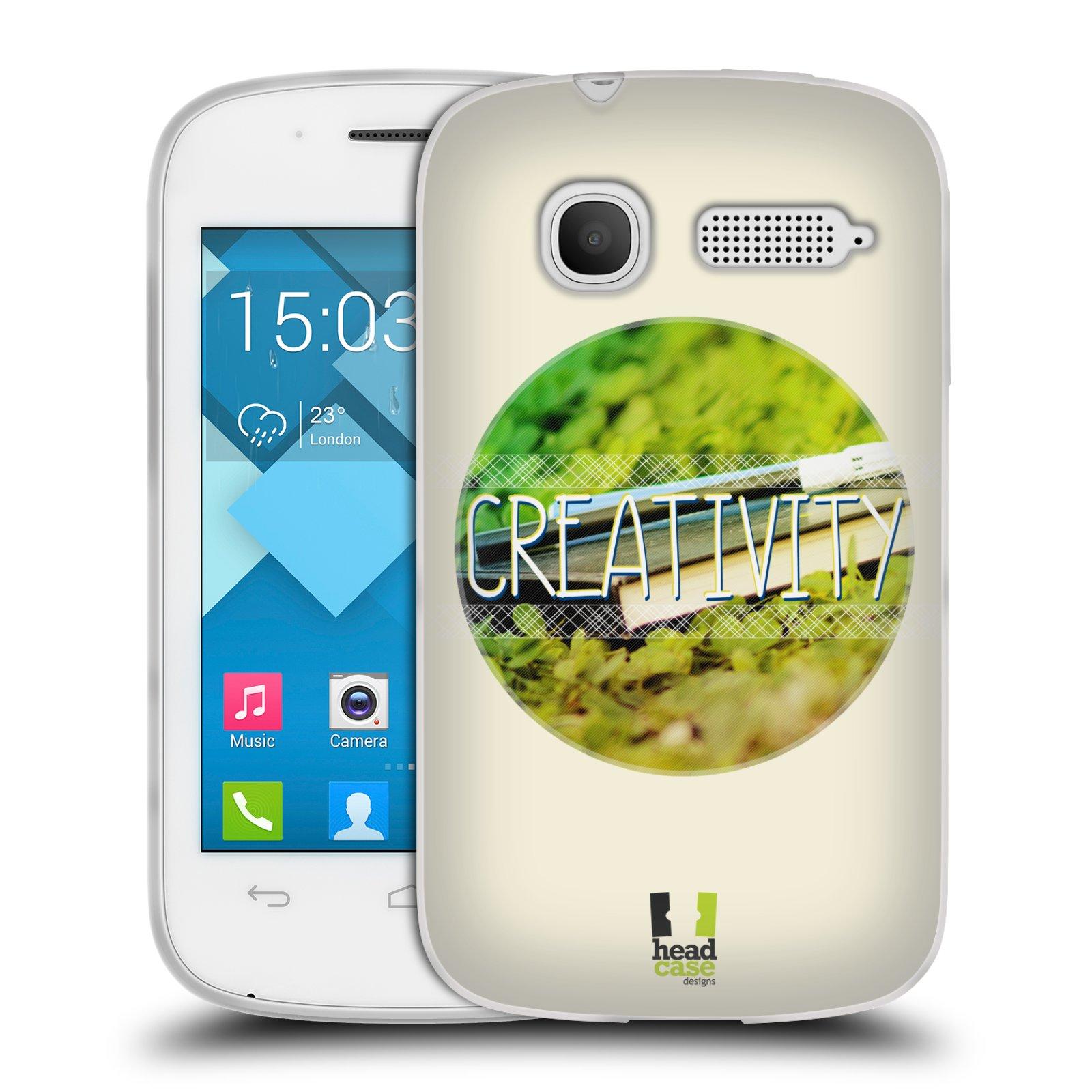 Silikonové pouzdro na mobil Alcatel One Touch Pop C1 HEAD CASE INSPIRACE V KRUHU KREATIVITA (Silikonový kryt či obal na mobilní telefon Alcatel OT-4015D POP C1)