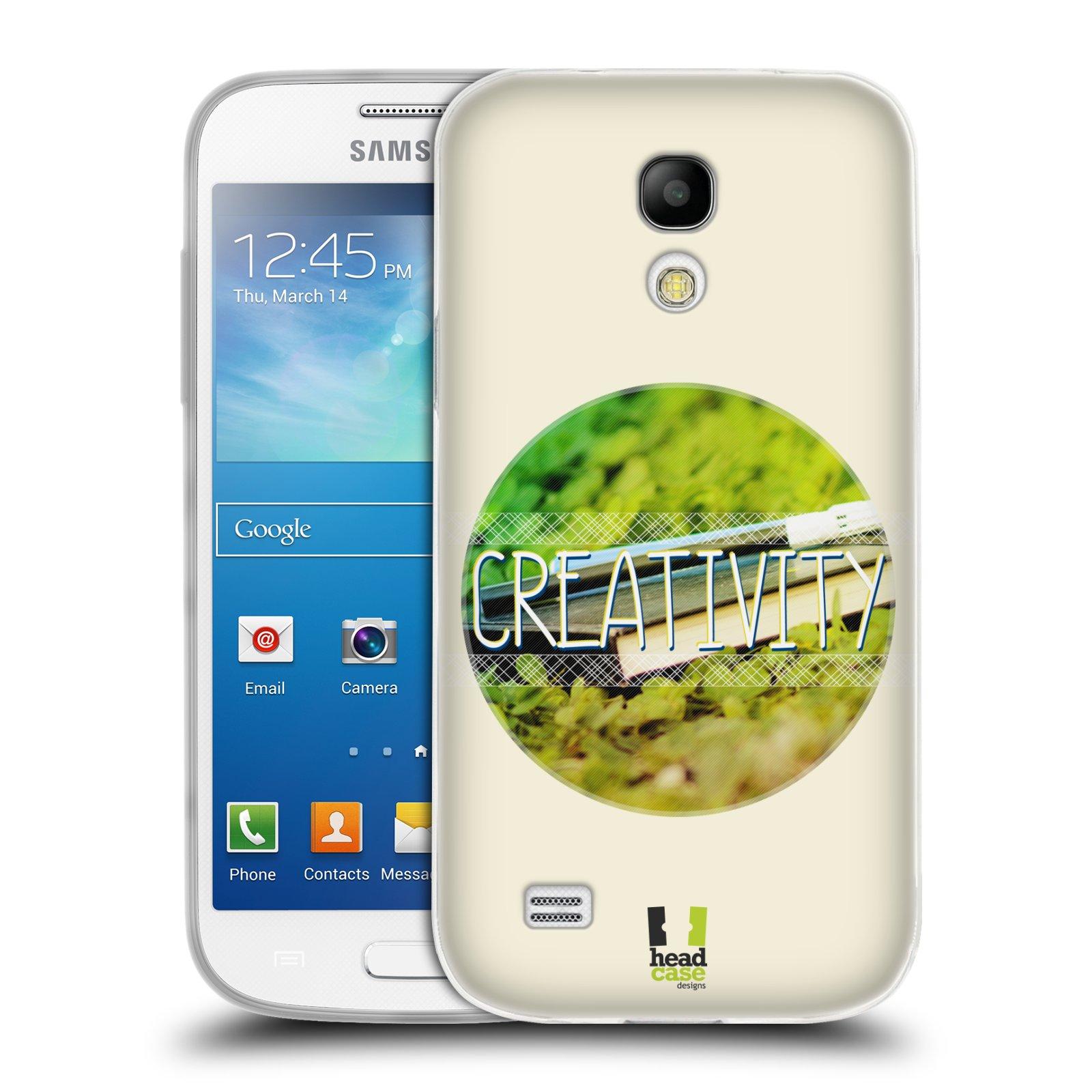 Silikonové pouzdro na mobil Samsung Galaxy S4 Mini HEAD CASE INSPIRACE V KRUHU KREATIVITA (Silikonový kryt či obal na mobilní telefon Samsung Galaxy S4 Mini GT-i9195 / i9190 (nepasuje na verzi Black Edition))